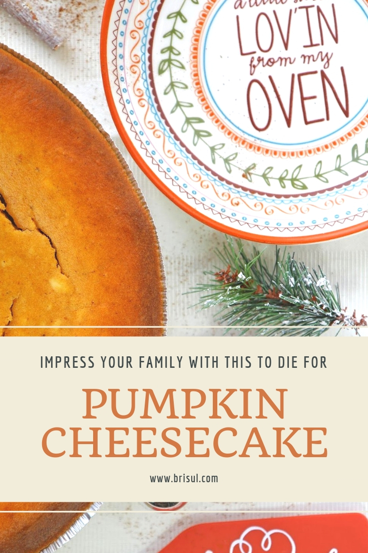 The Best Pumpkin Cheesecake. Perfect for Thanksgiving.