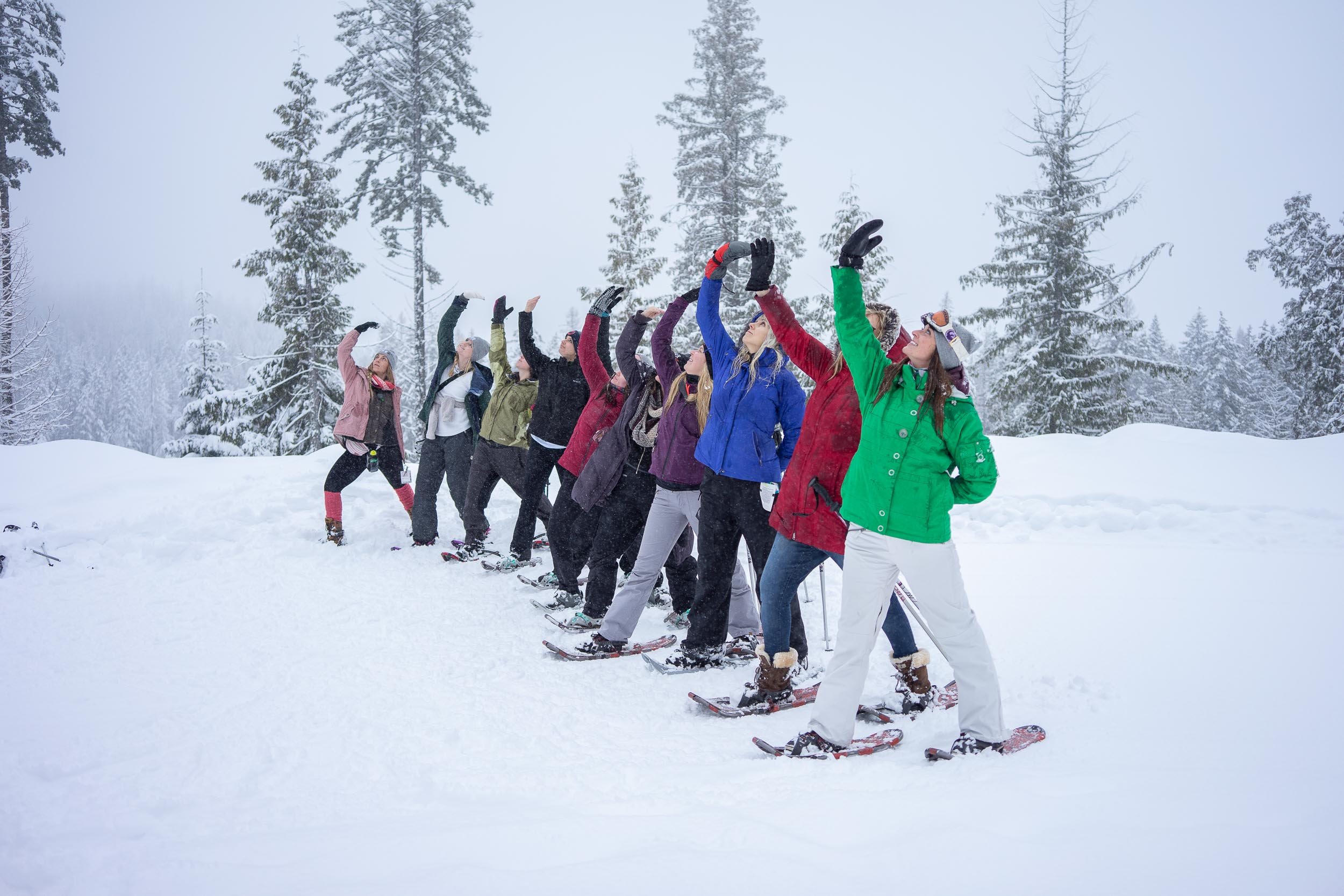 Snowshoeing at Whitefish Resort near Whitefish, Montana