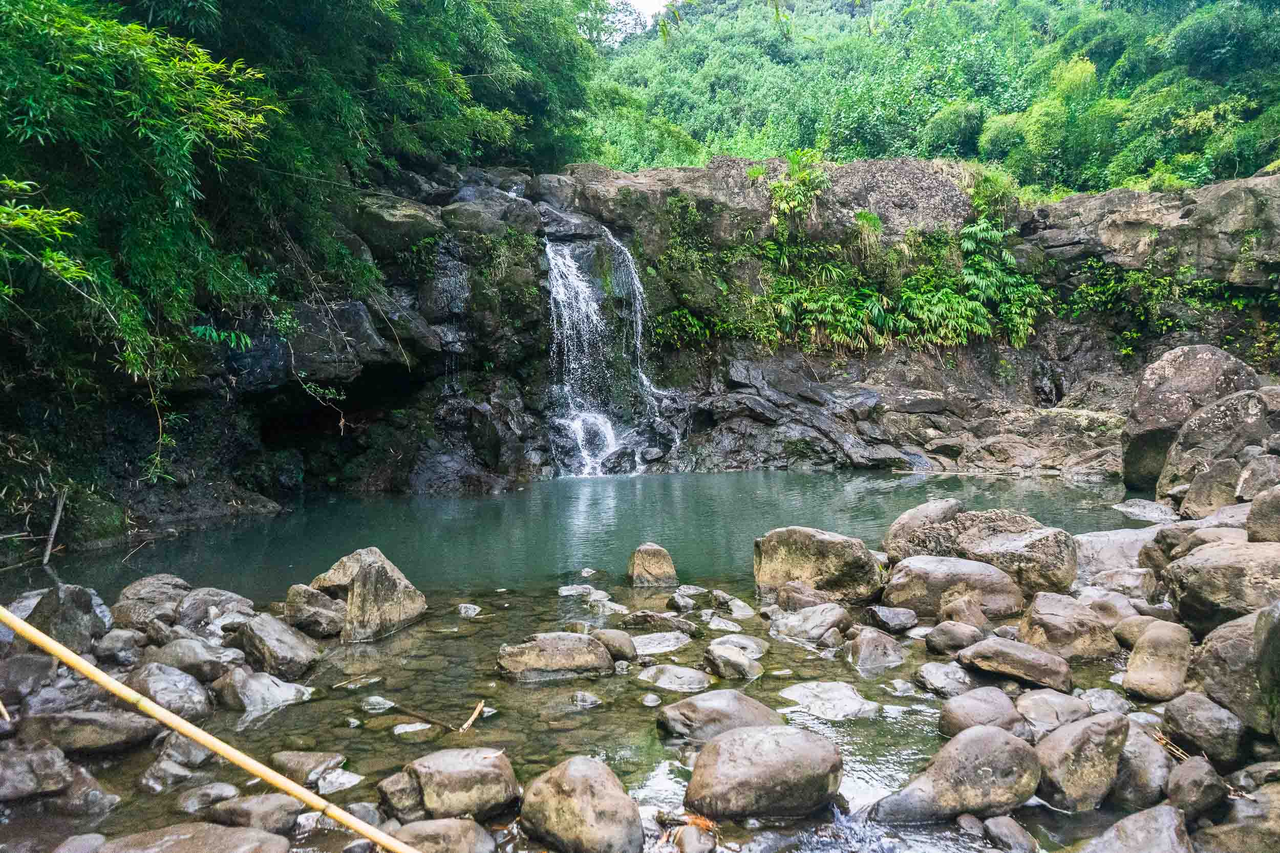 Hidden waterfalls on The Road to Hana. Tips, tricks, and things to do in Maui, Hawaii. The ultimate travel guide along with rare, locals only secrets