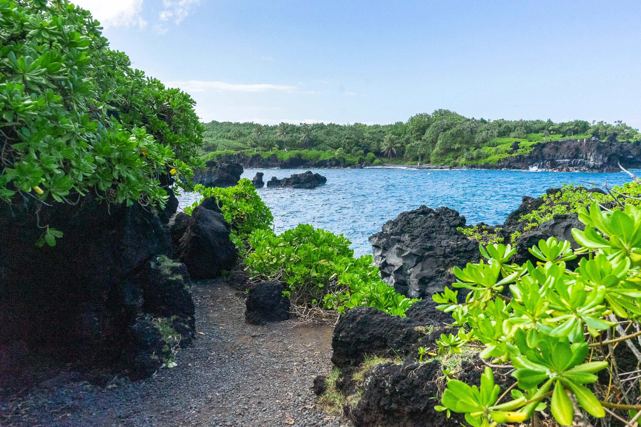 Black Sand Beach on The Road to Hana. Tips, tricks, and things to do in Maui, Hawaii. The ultimate travel guide along with rare, locals only secrets