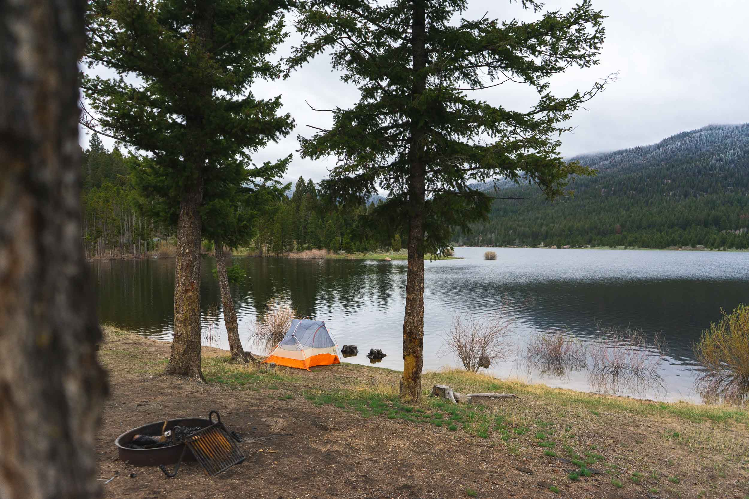 Delmoe Lake Campground is located in Beaverhead-Deerlodge National Forest in southwest Montana about 30 minutes outside of Butte.