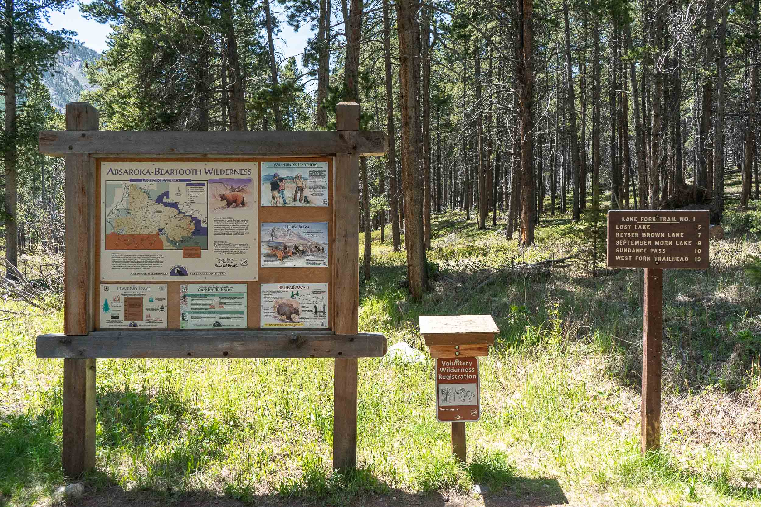 Lake Fork Trail; 9.8 miles near Red Lodge Montana. Easy hike along the river, great for the whole family.