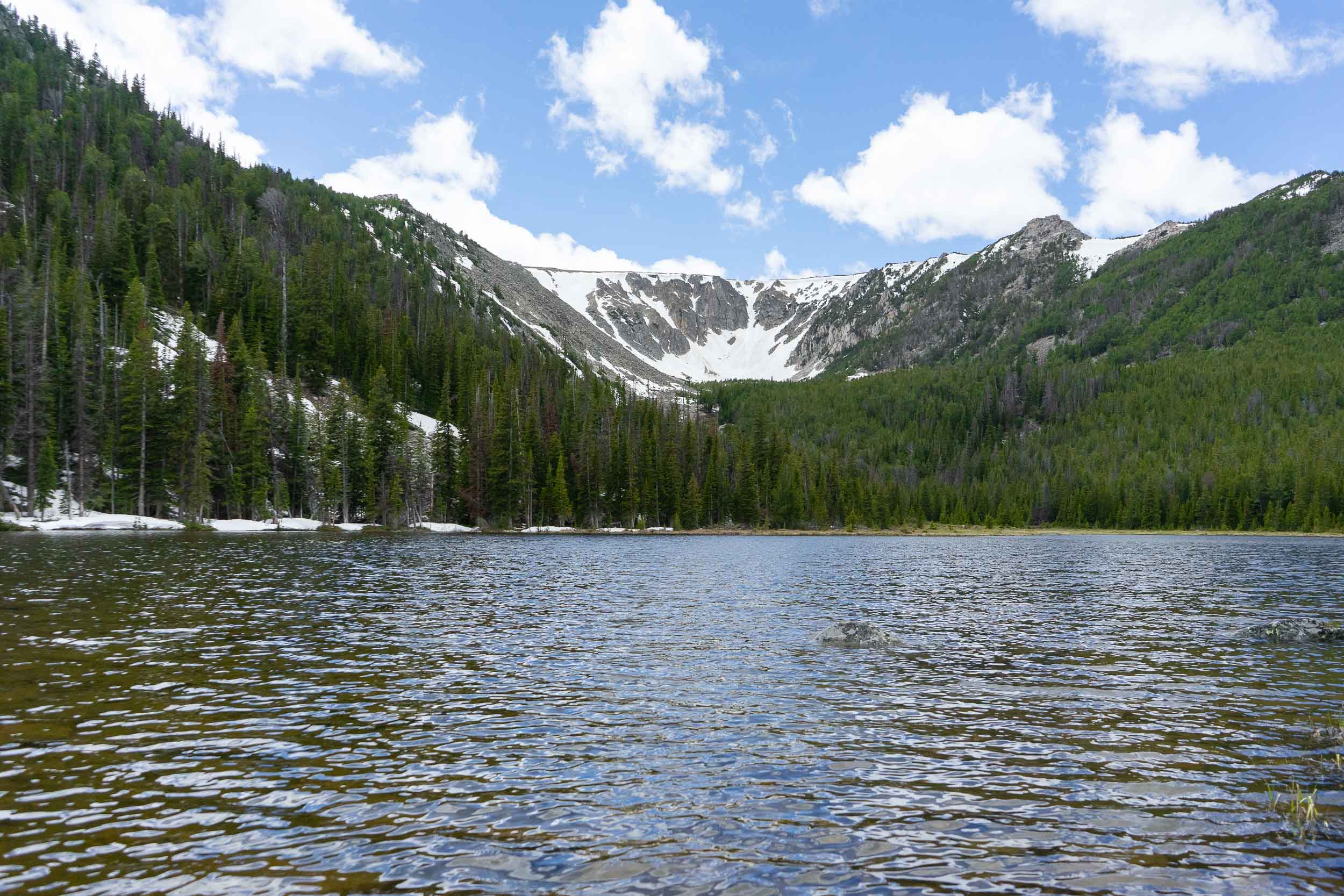 Basin Lakes Trail is an 8 mile hike to two lakes with over 2000 feet of elevation gain. The trail leads to two crystal clear lakes. Great for hiking, fishing, dogs, and backpacking.