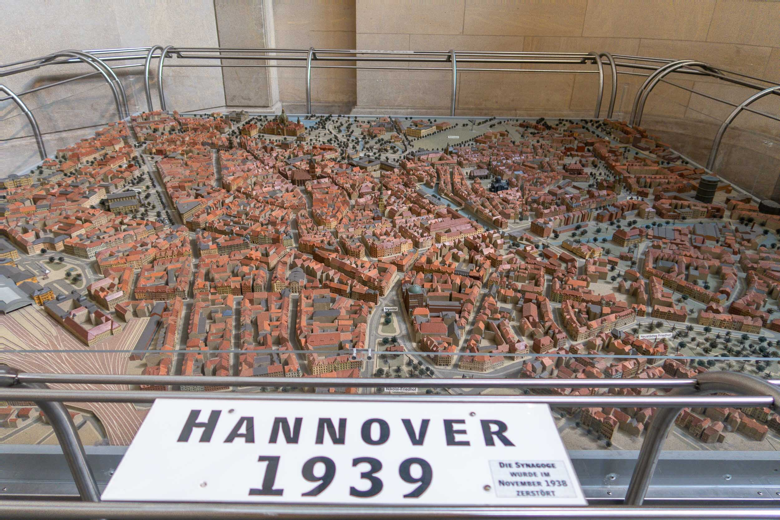 Tiny model of the City of Hannover, Germany over the years