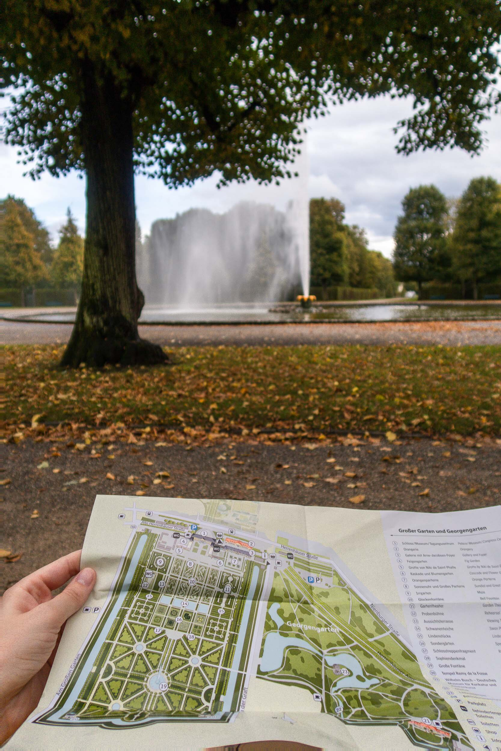 One of the most breathtaking views in Hannover, Germany - The Herrenhausen Gardens