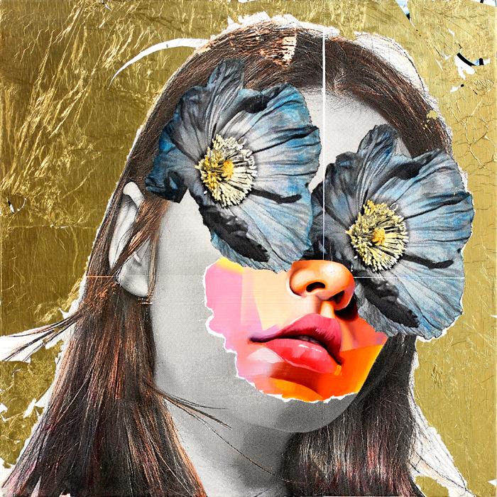 AM DeBrincat Poppy Eyes painting