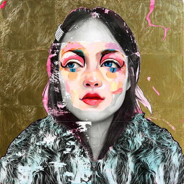 AM DeBrincat Golden Midnight oil painting