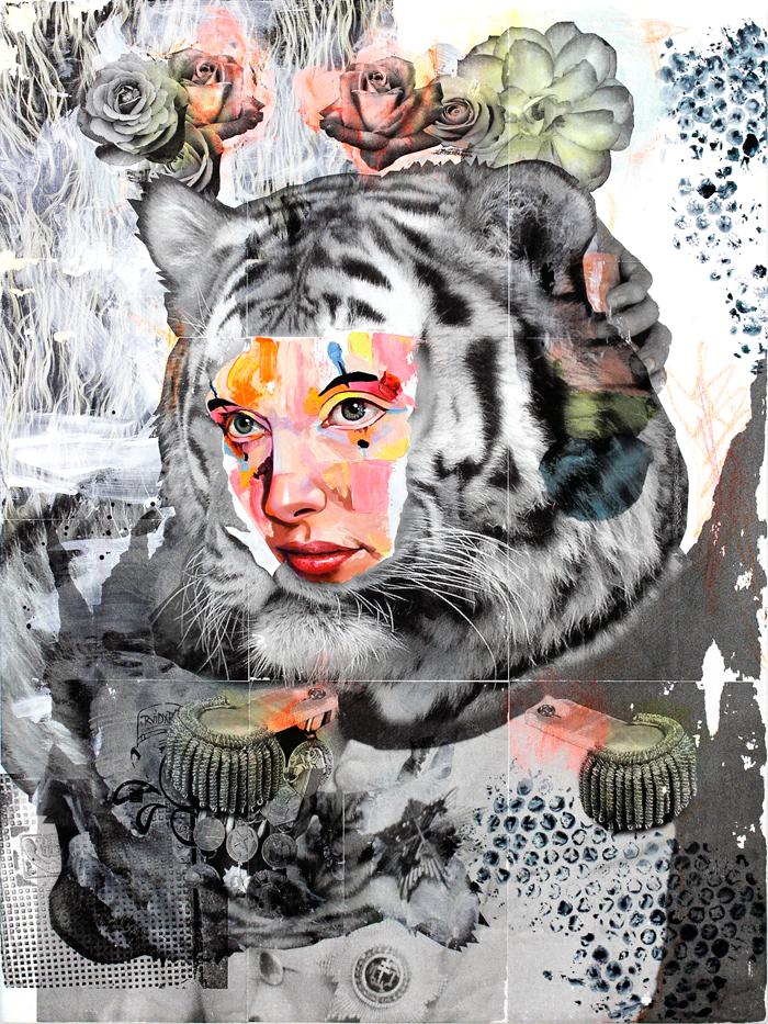AM DeBrincat Captain Cat oil painting on canvas