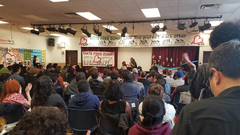 Hate Free Zone People's Assembly, Jackson Heights, Queens, May 7, 2017.