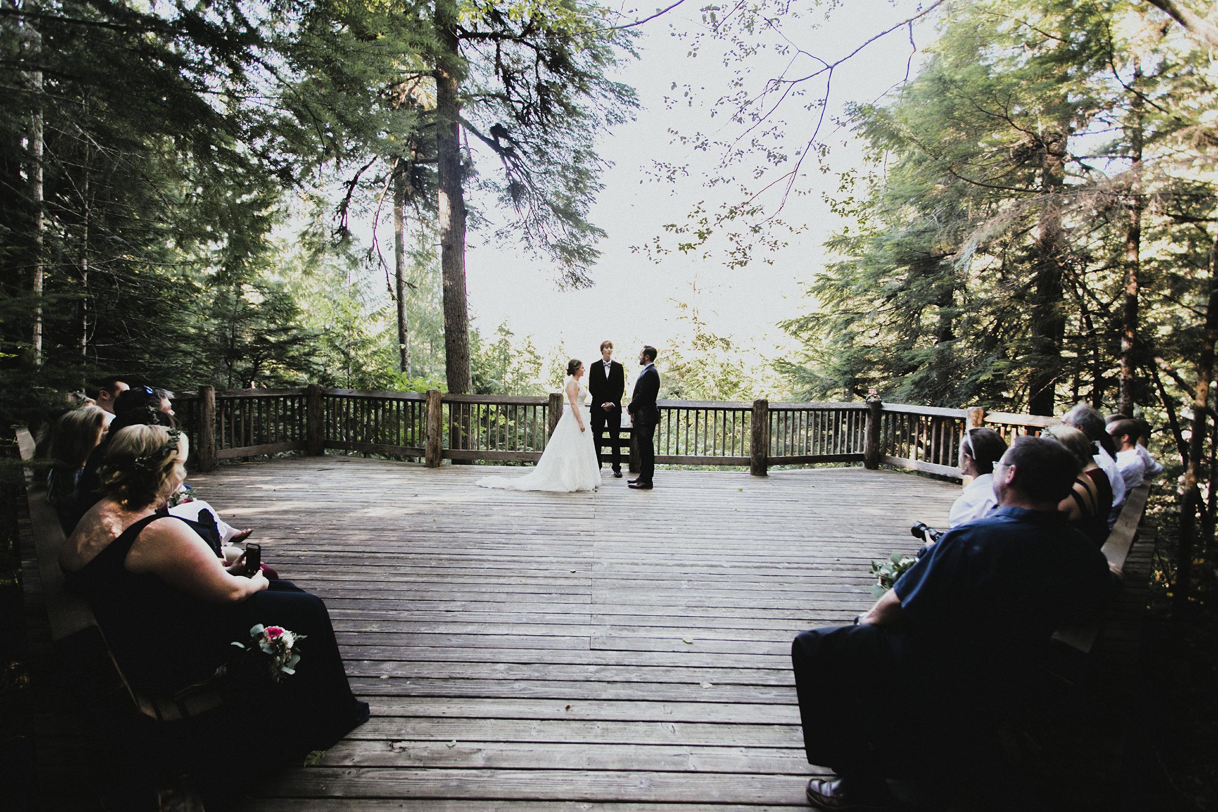 north cascades visitor center wedding ceremony