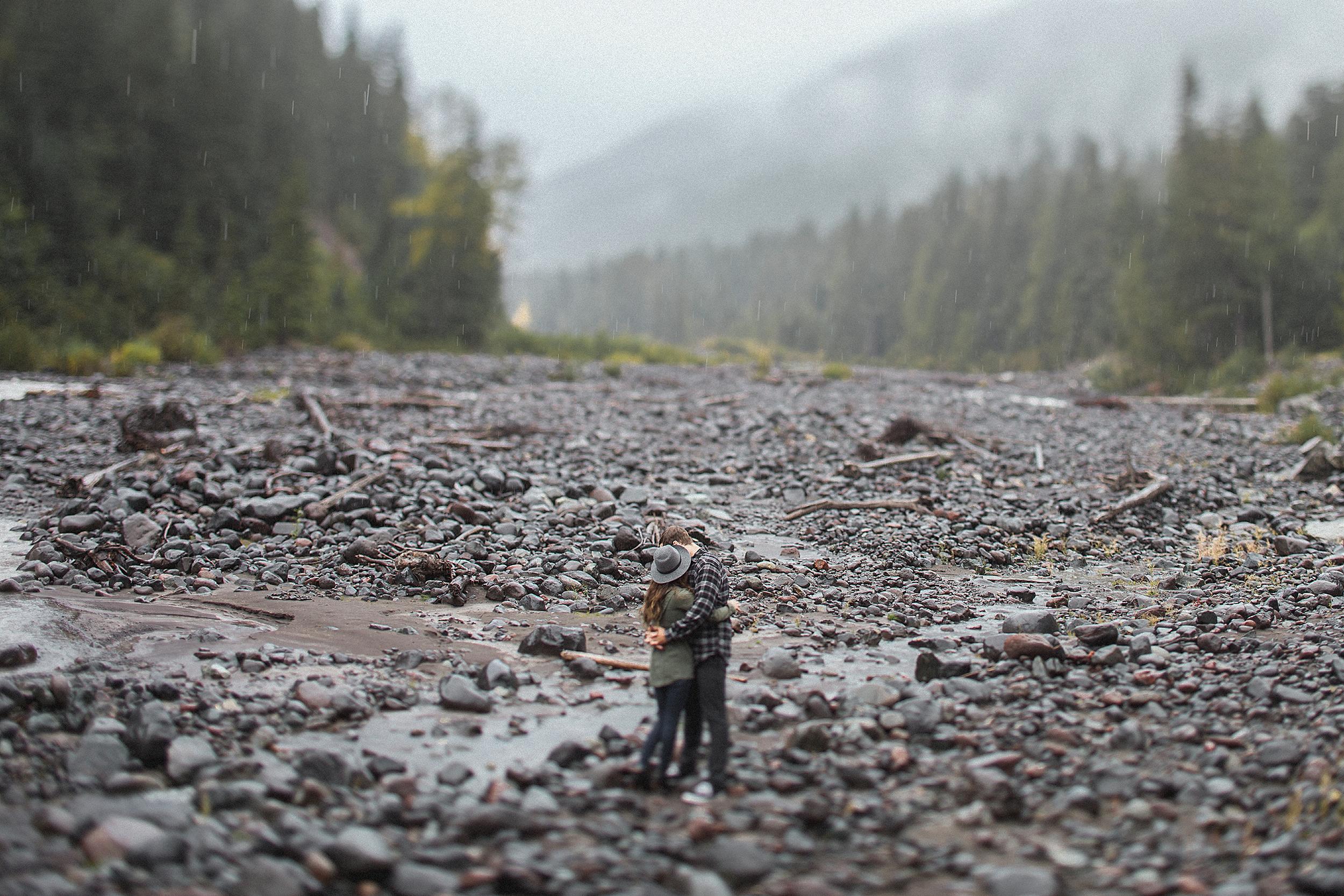 Mt. Rainier Engagement Photo Session at Paradise