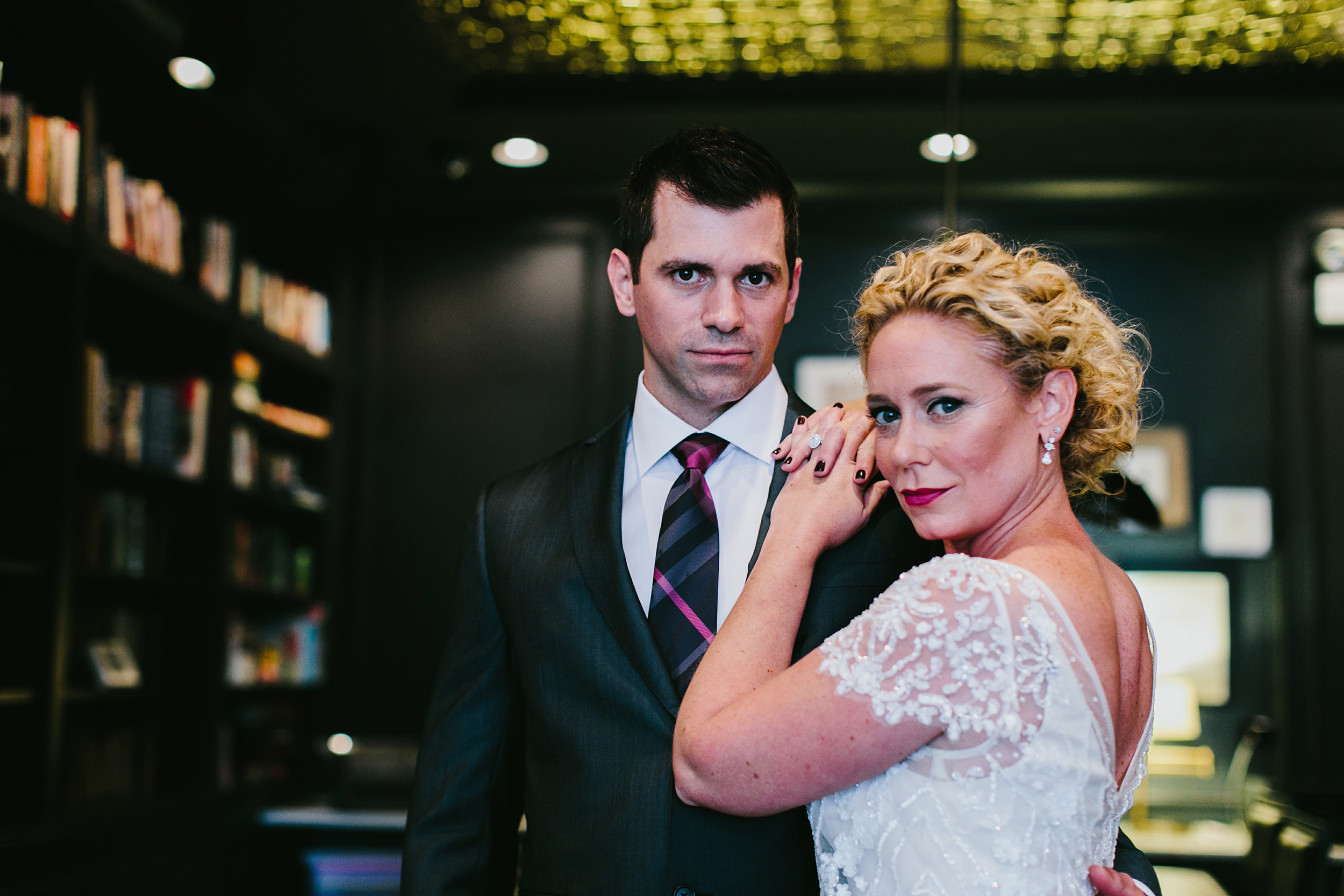 guest house chicago andersonville bride and groom portrait