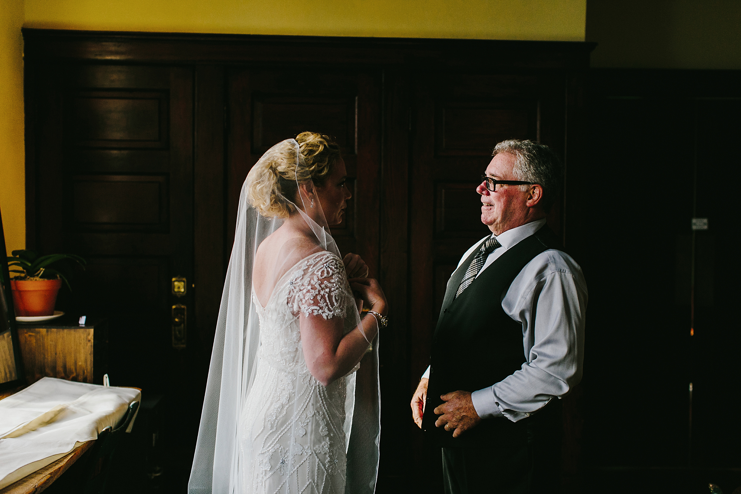 firehouse chicago father and bride first look