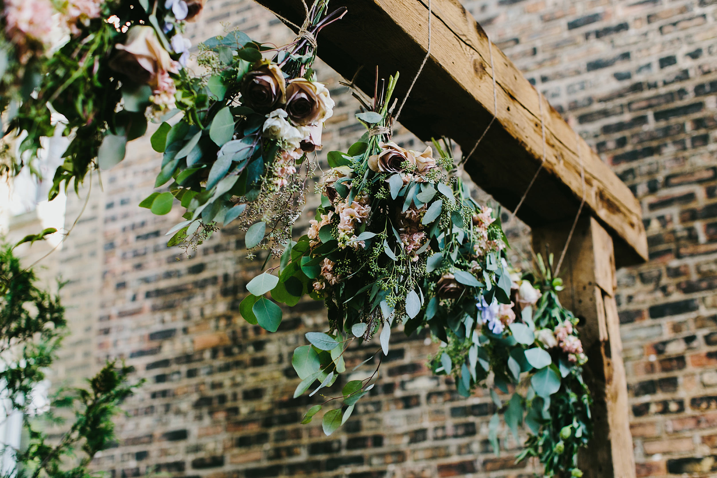 alter flowers by Asrai Garden, Firehouse Chicago, Illinois