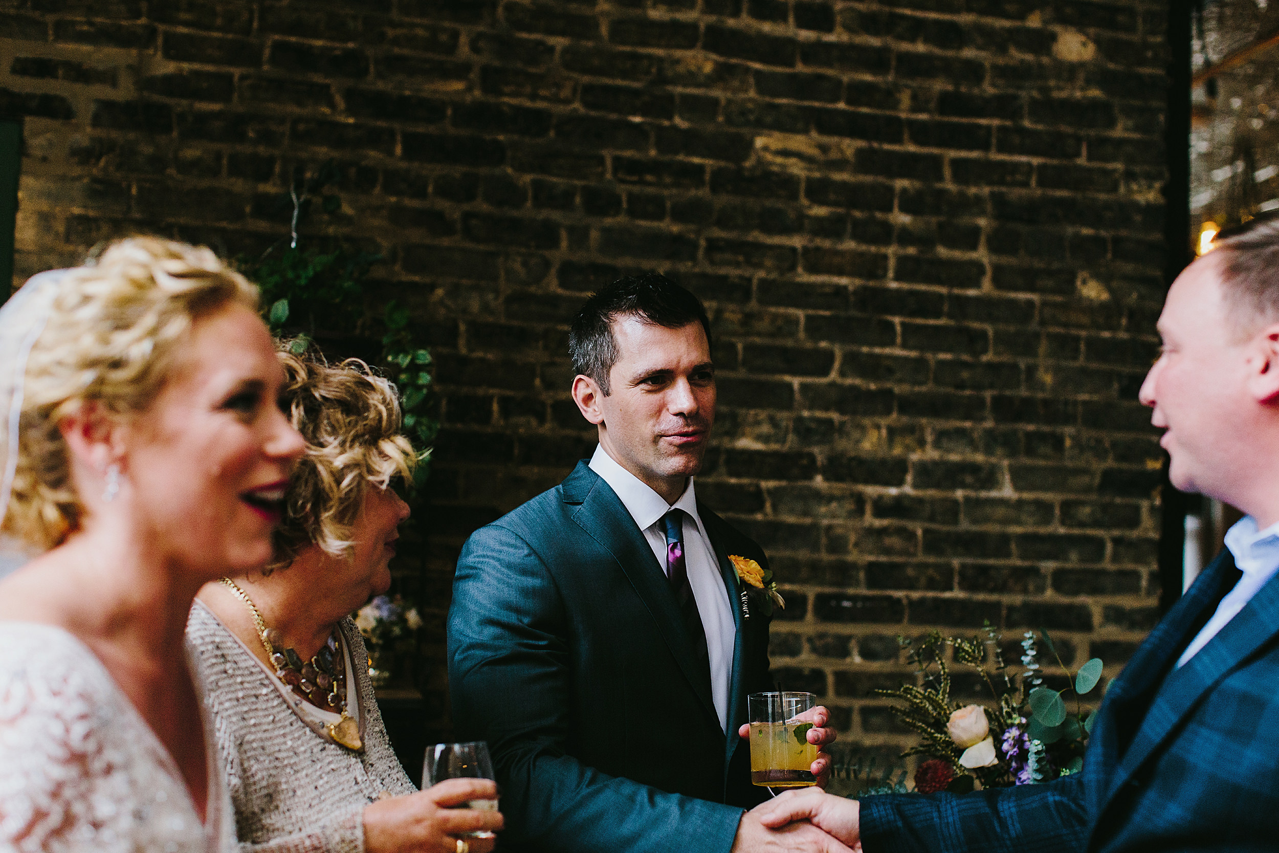 Groom at reception at firehouse chicago