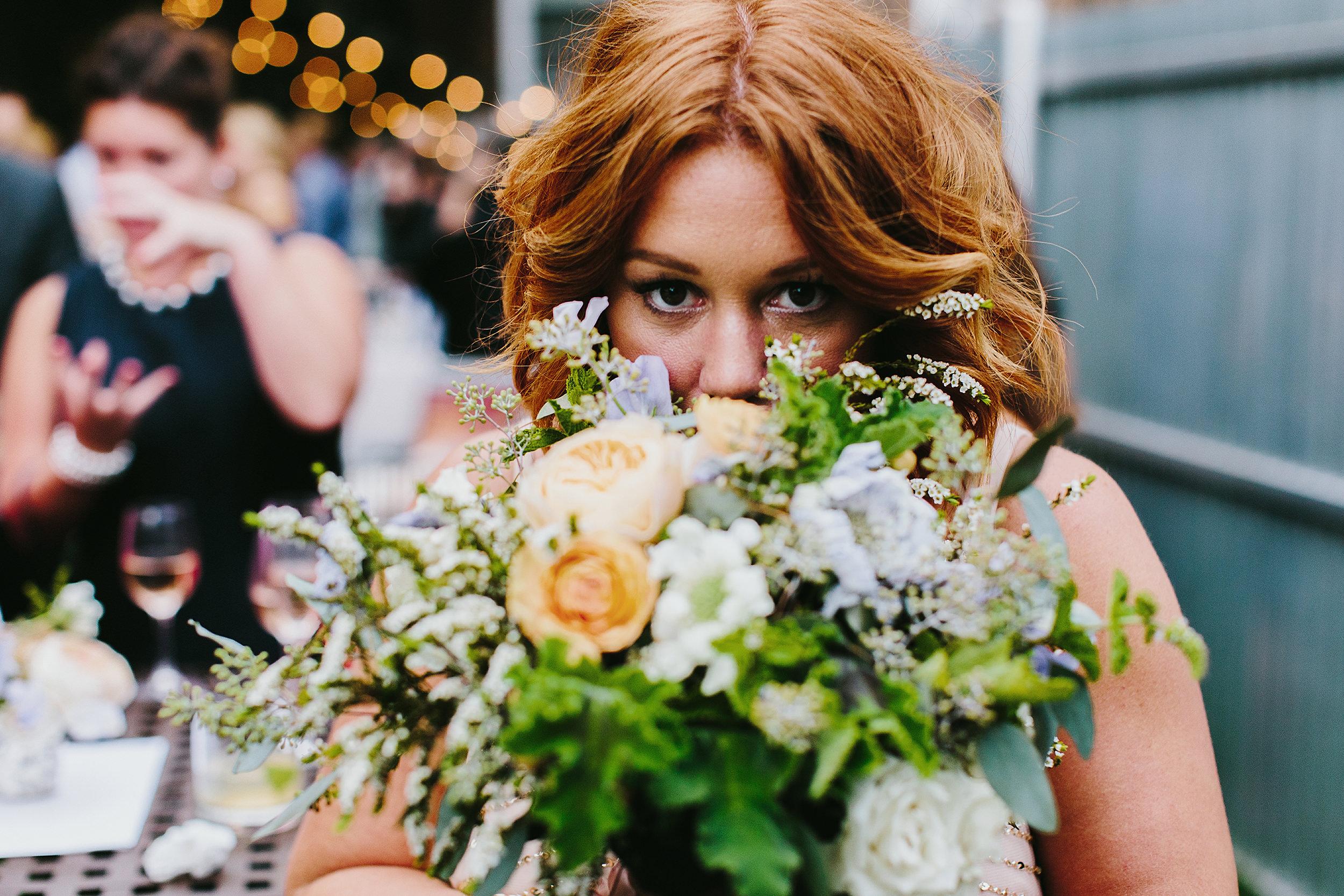bridesmaid at reception at firehouse chicago