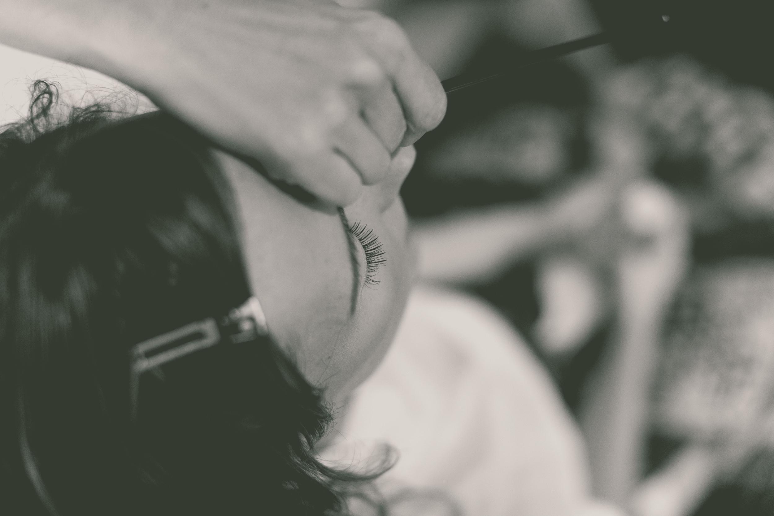 bridal makeup photography