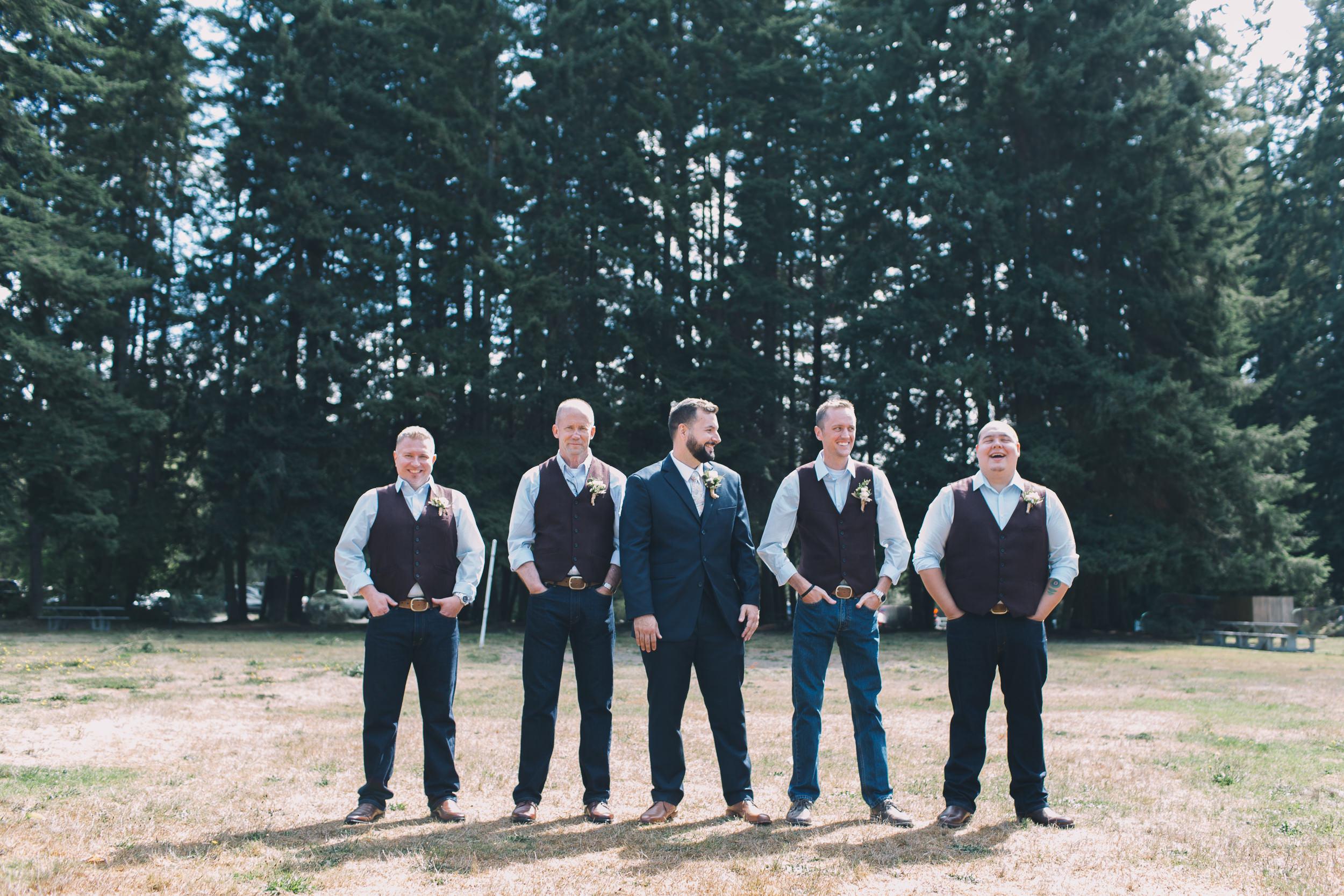 groomsmen at kitsap memorial state park
