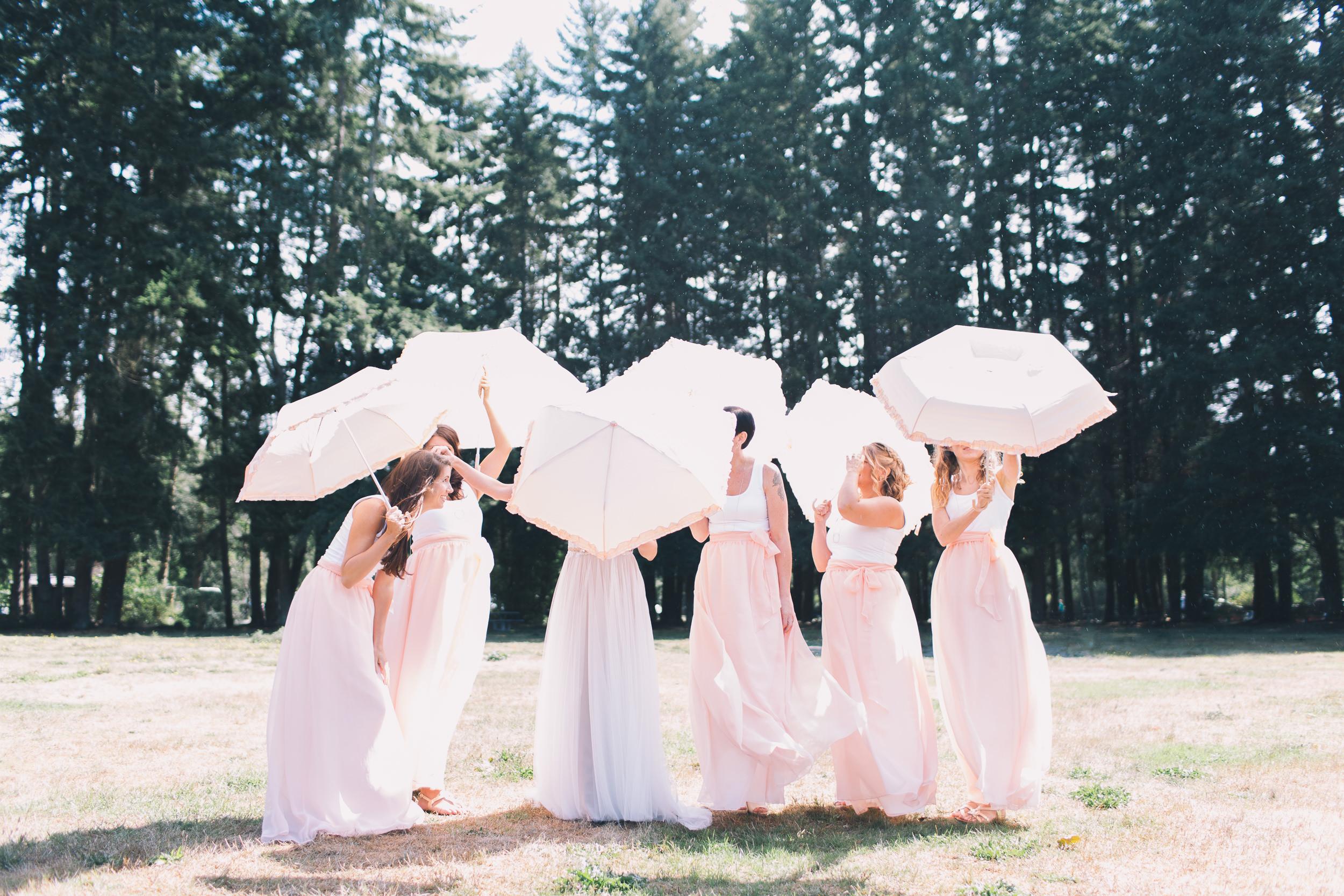 bridesmaids at kitsap memorial state park