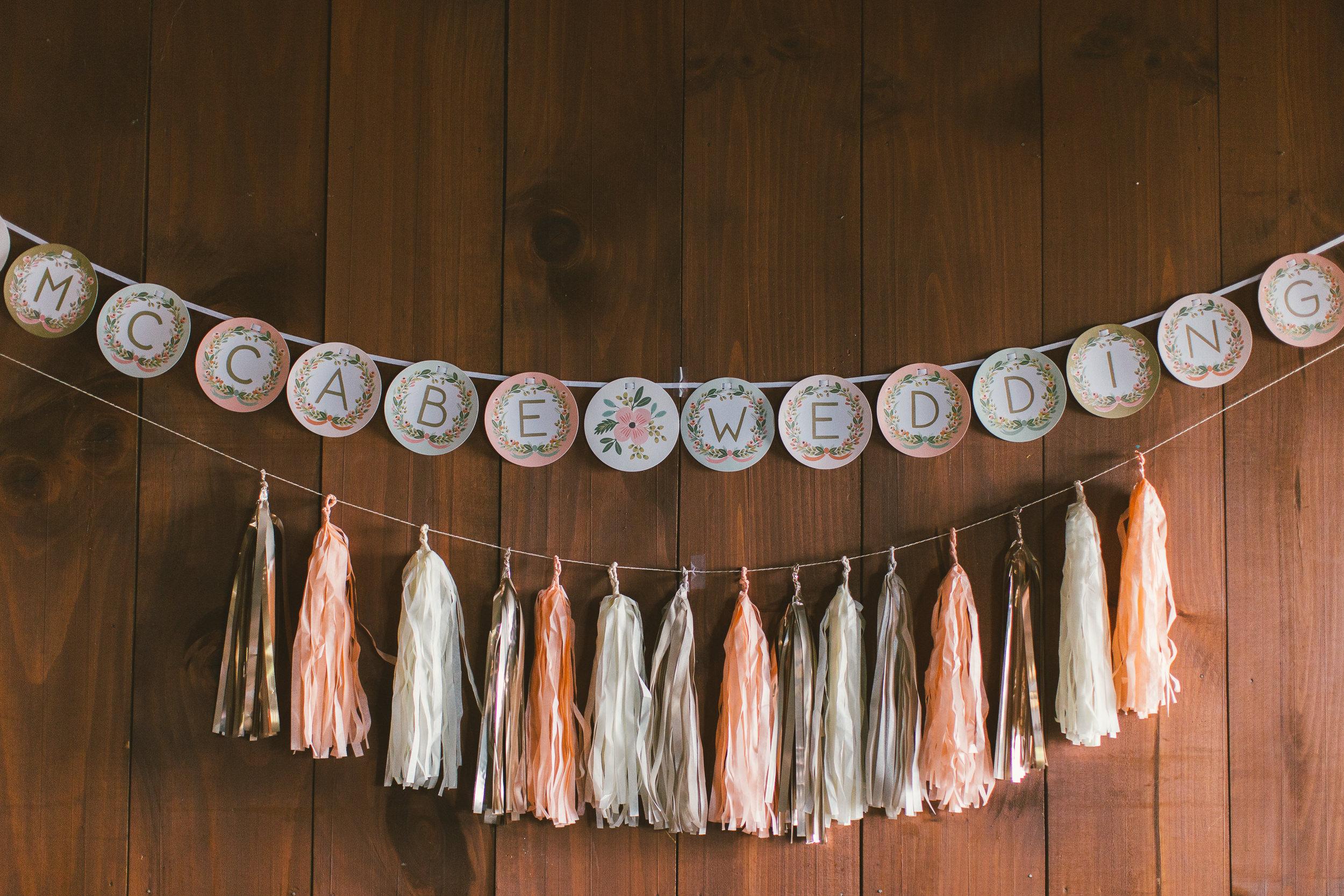natural light wood wedding details