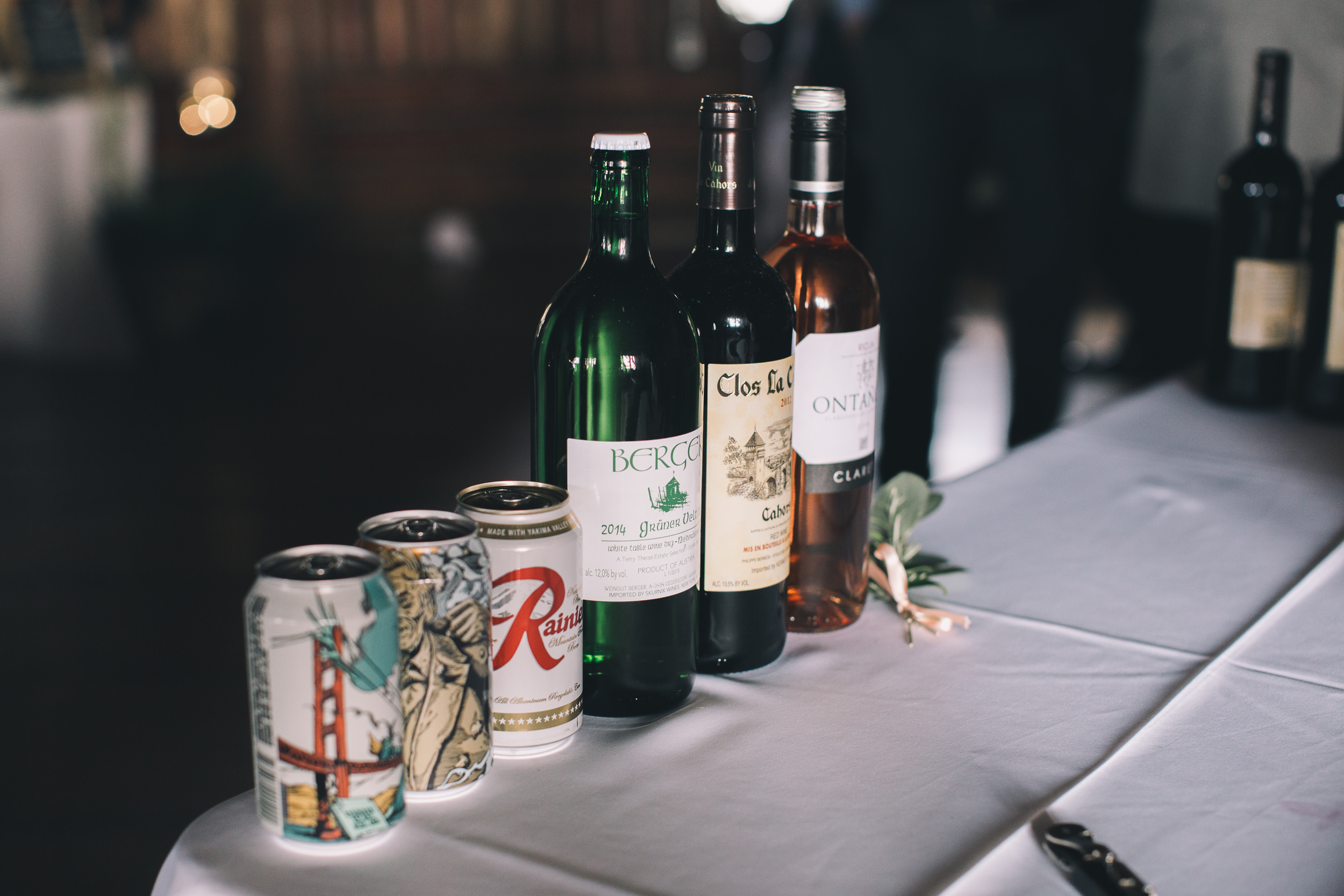 rainier beer and booze selection