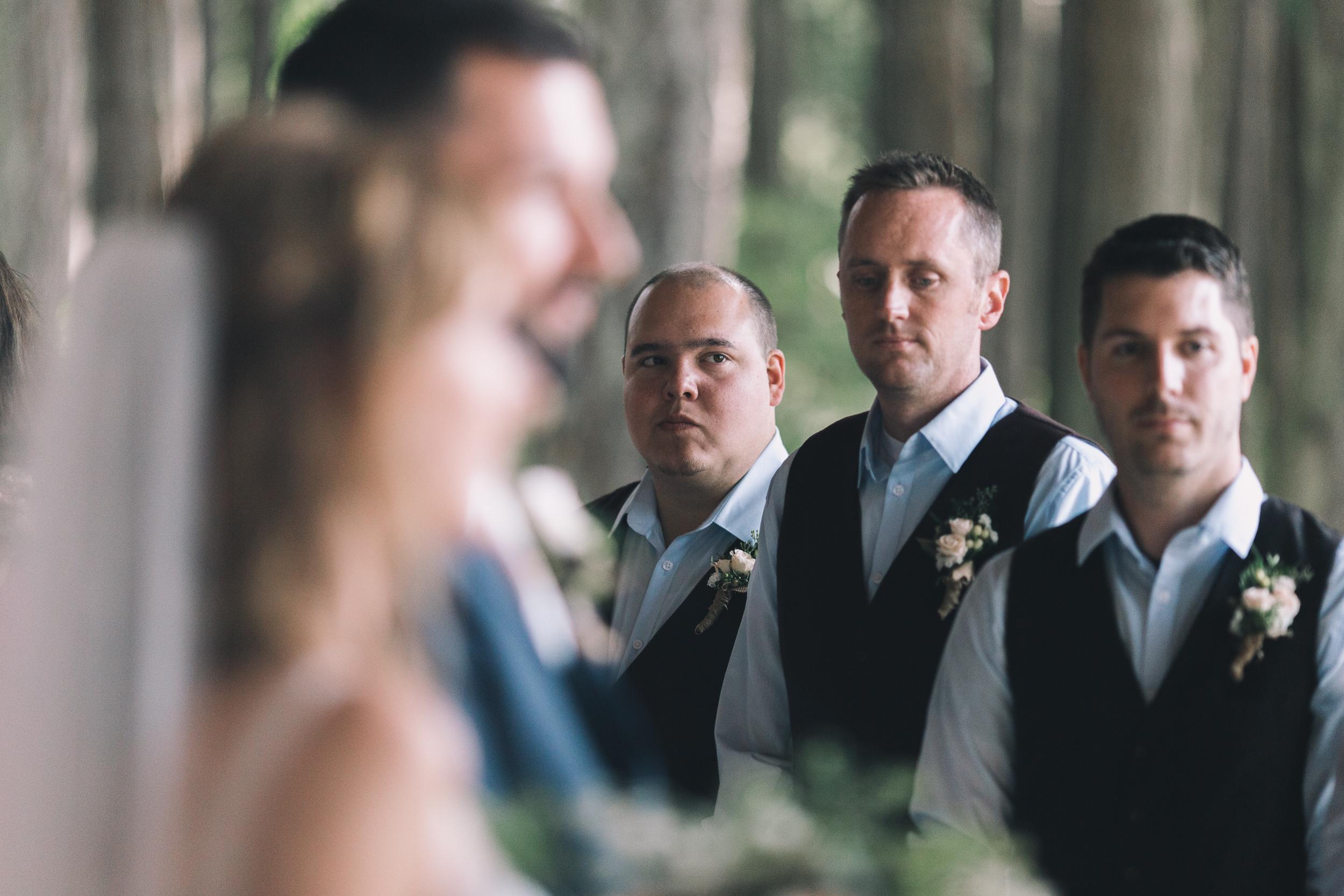 kitsap memorial state park grooms men look at groom