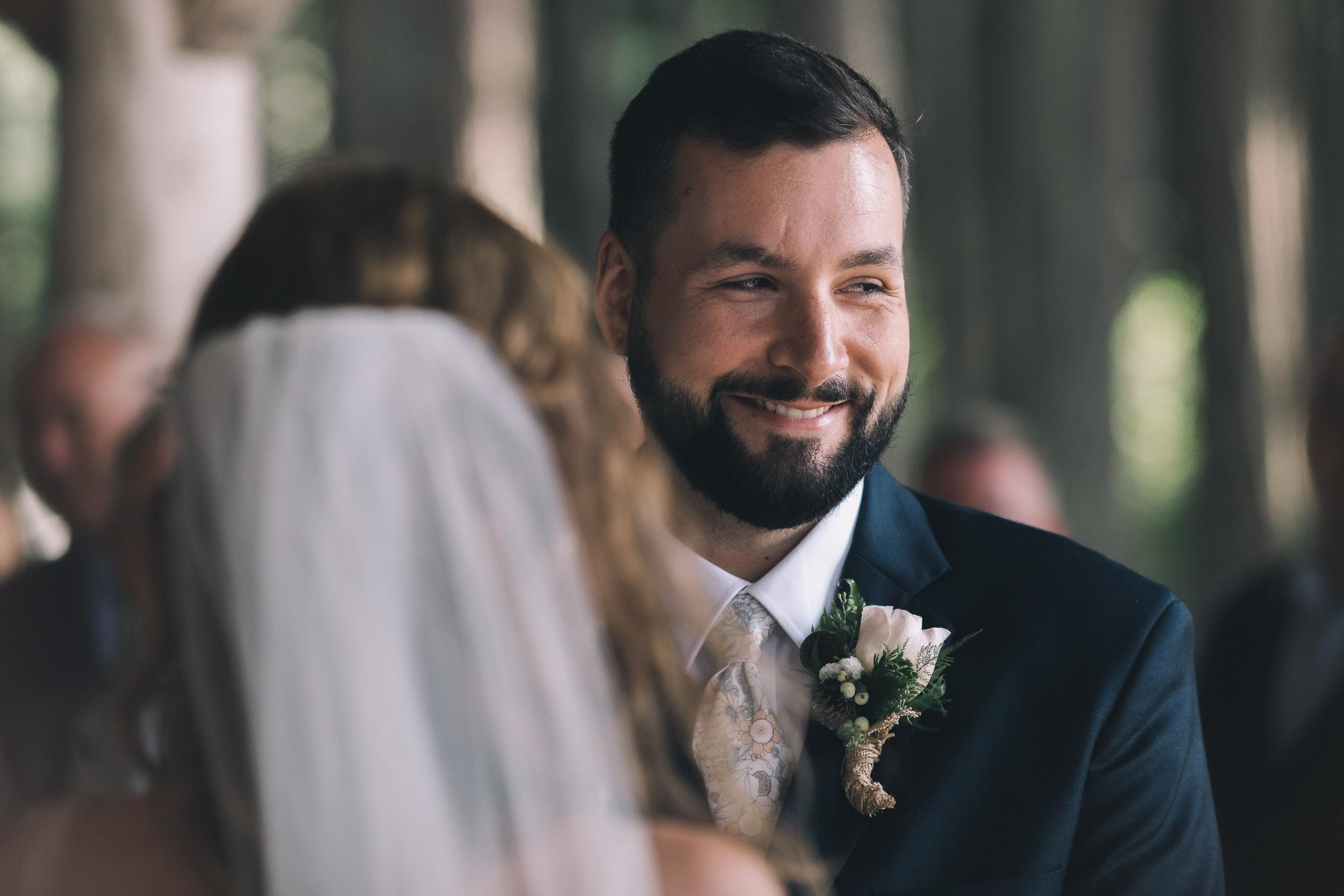 kitsap memorial state park groom smiling