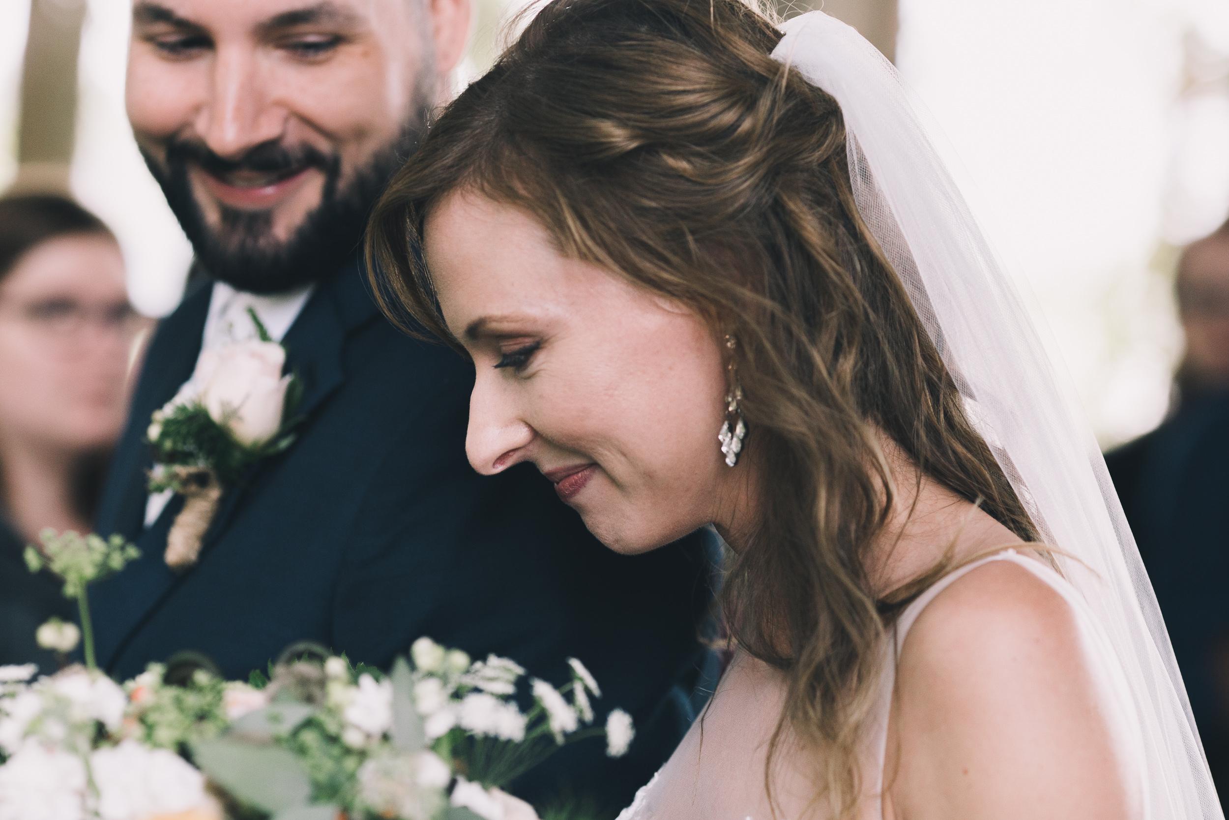 kitsap memorial state park groom looks lovingly at bride