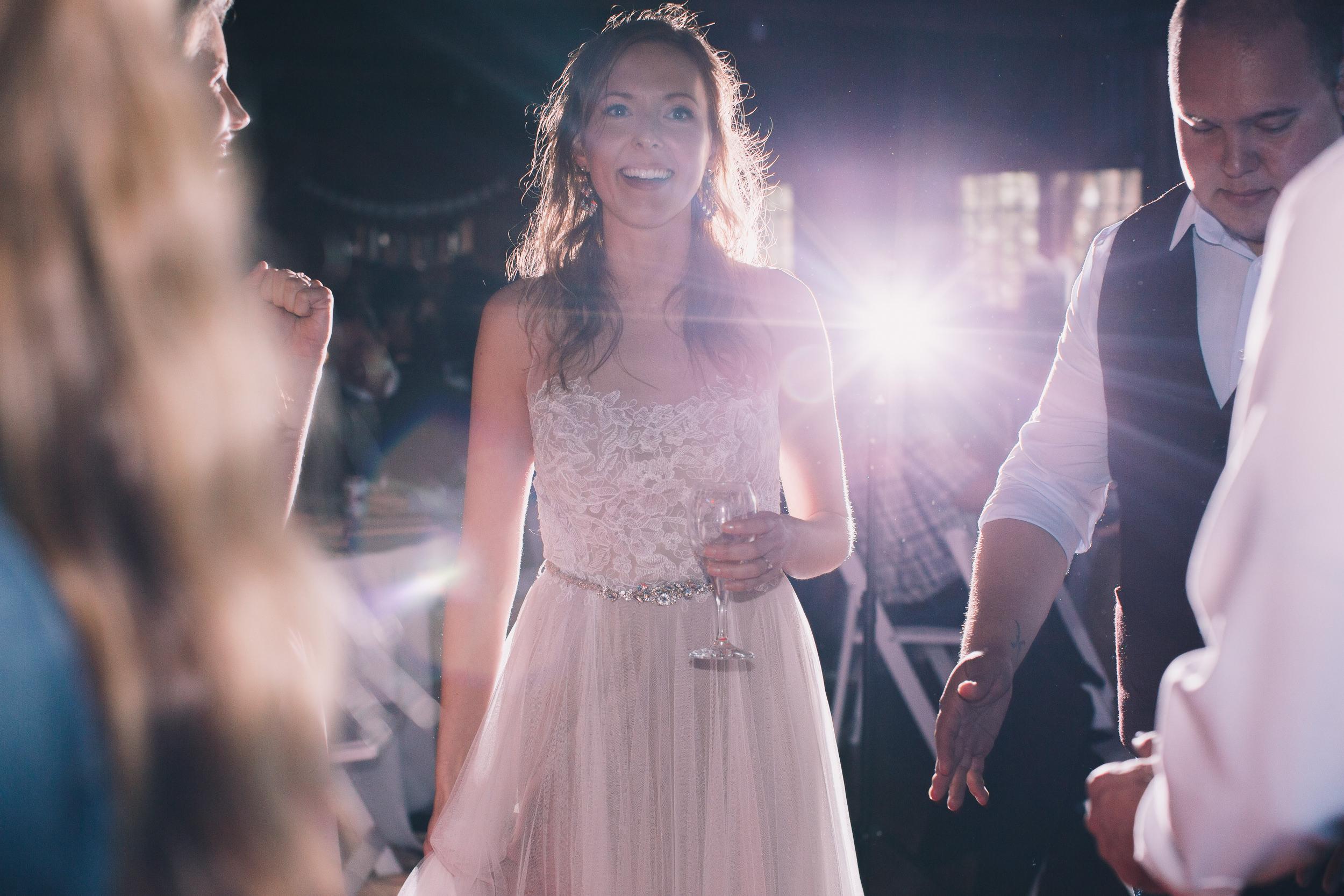 bride dances at kitsap memorial state park log hall