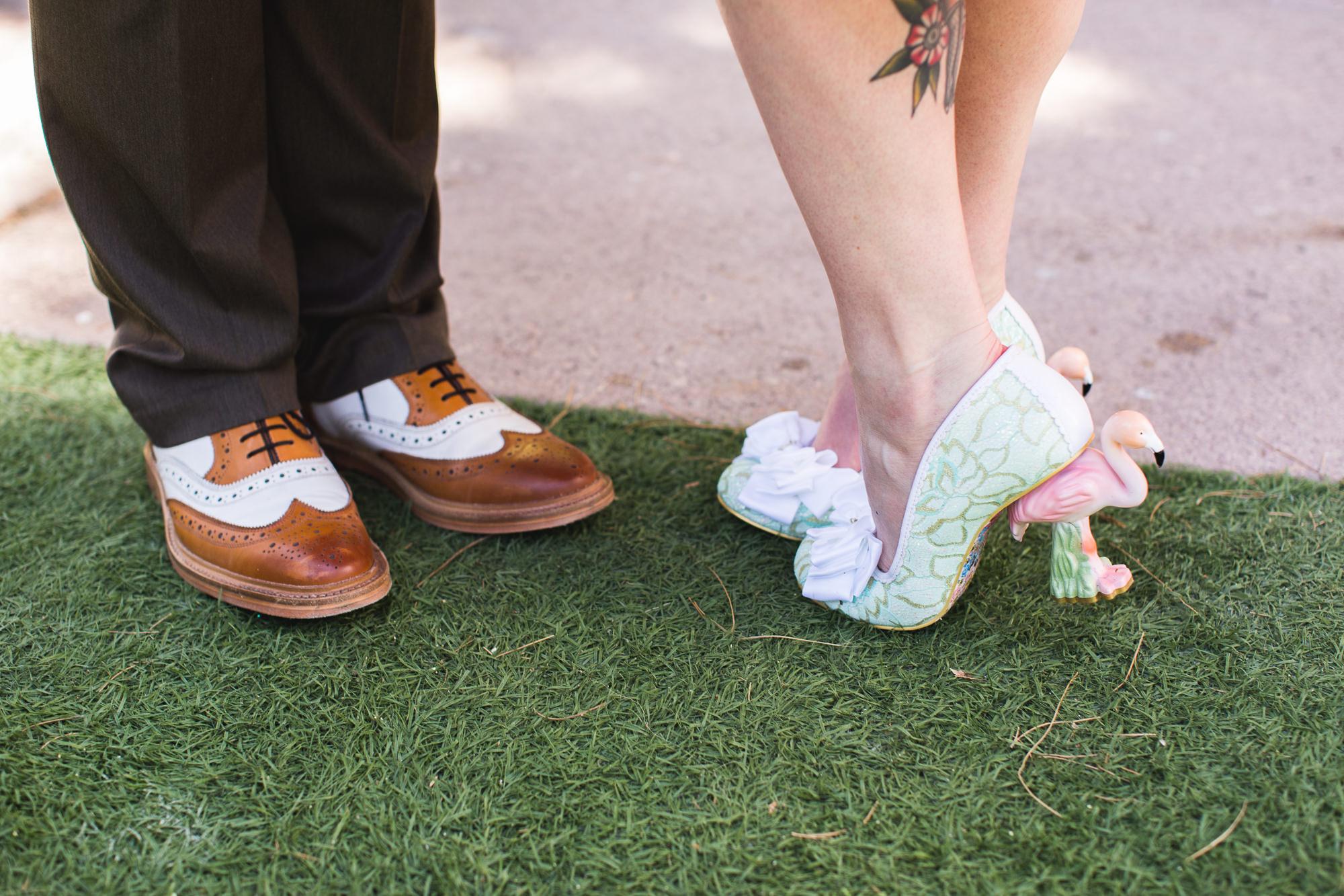flamingo high heels
