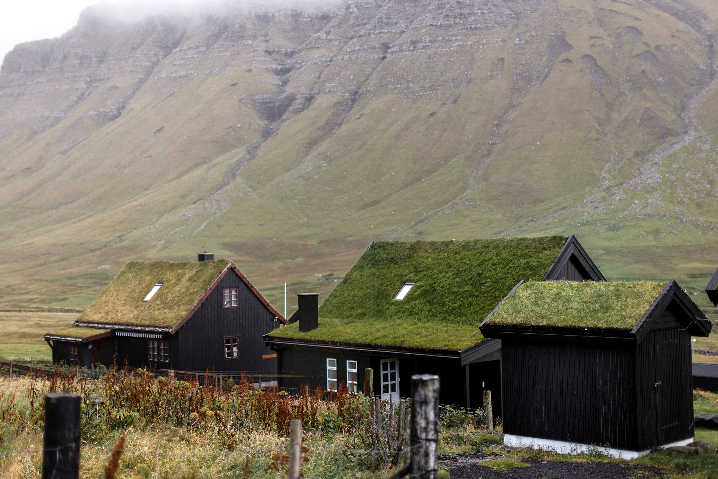the village of Gásadalur on the island of Vágar in the Faroe islands
