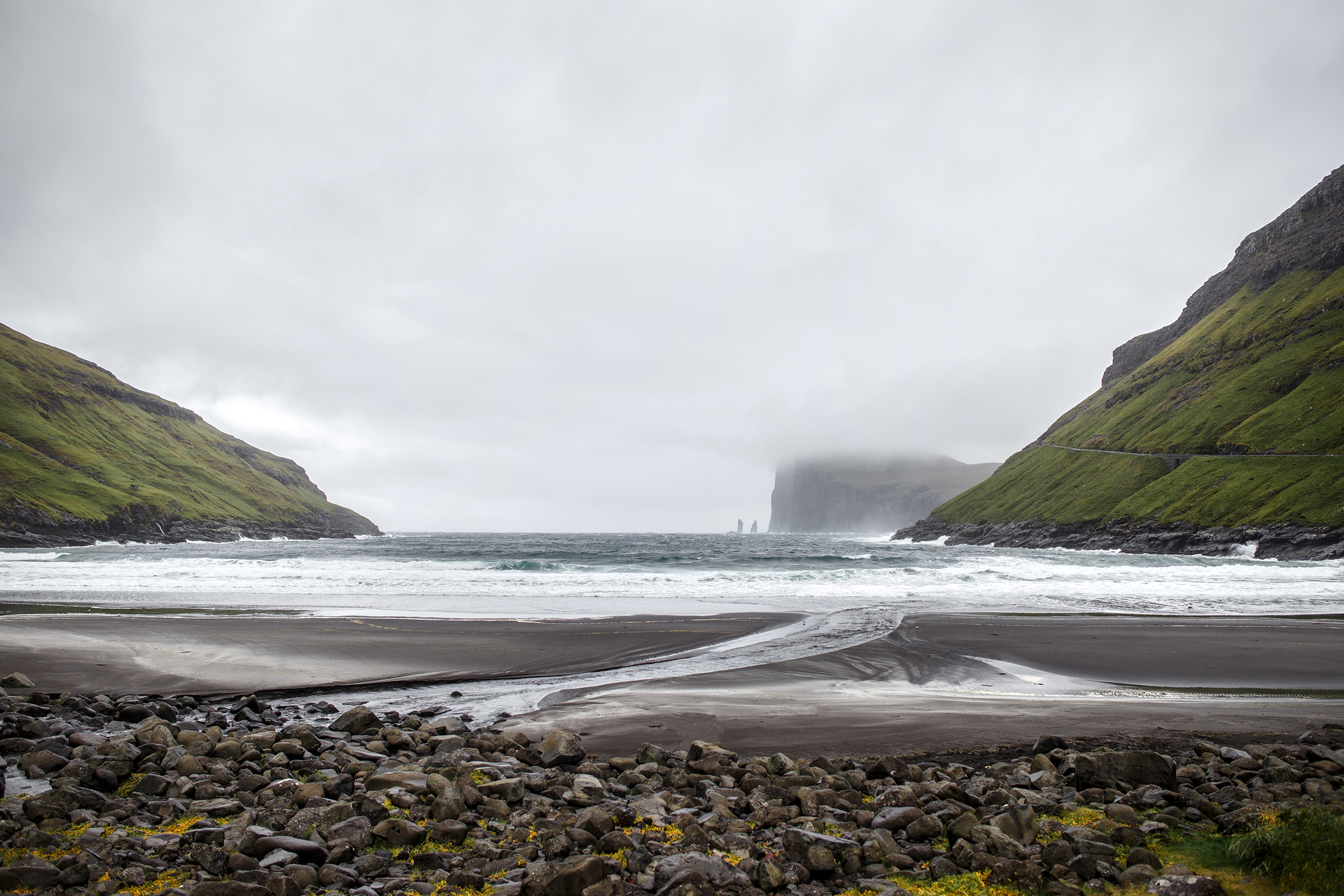 Tjørnuvík bay on Streymoy in the Faroe Islands