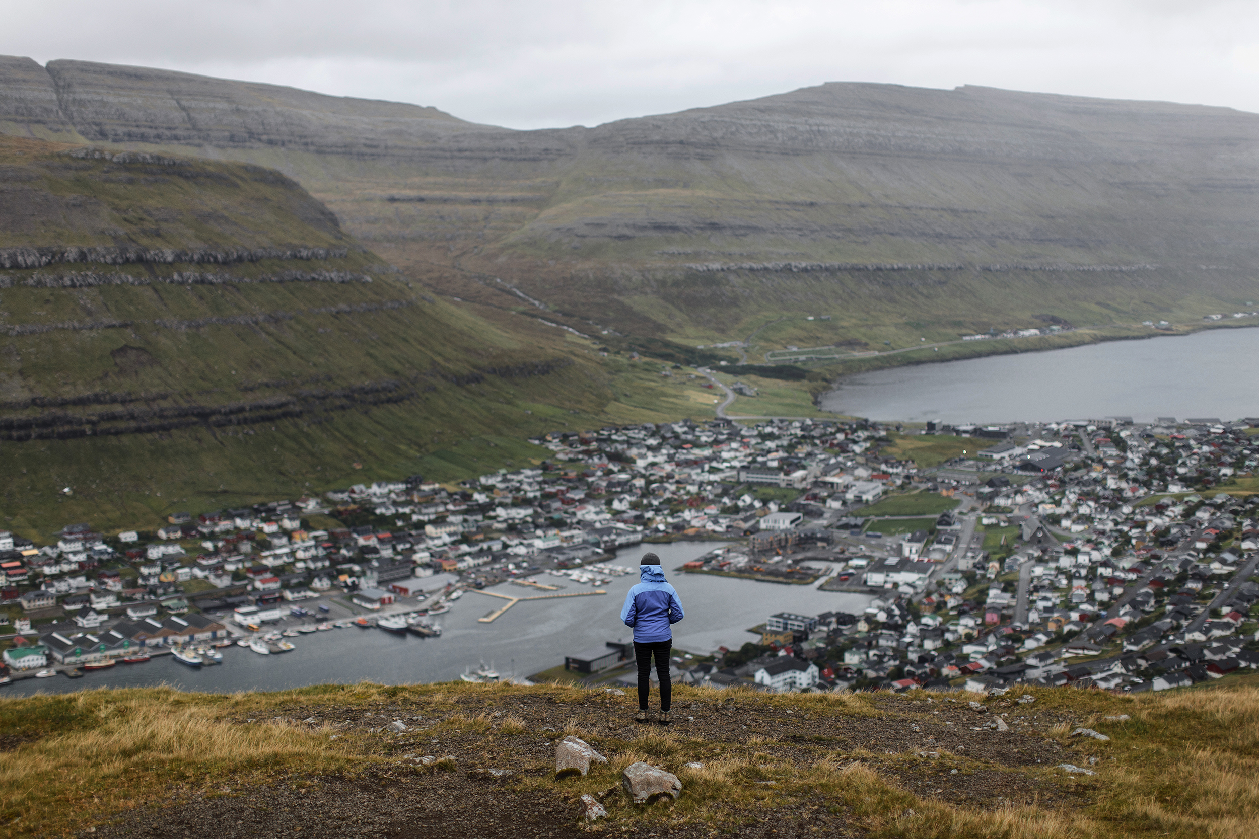 Klaksvik on Bordoy in the Faroe Islands