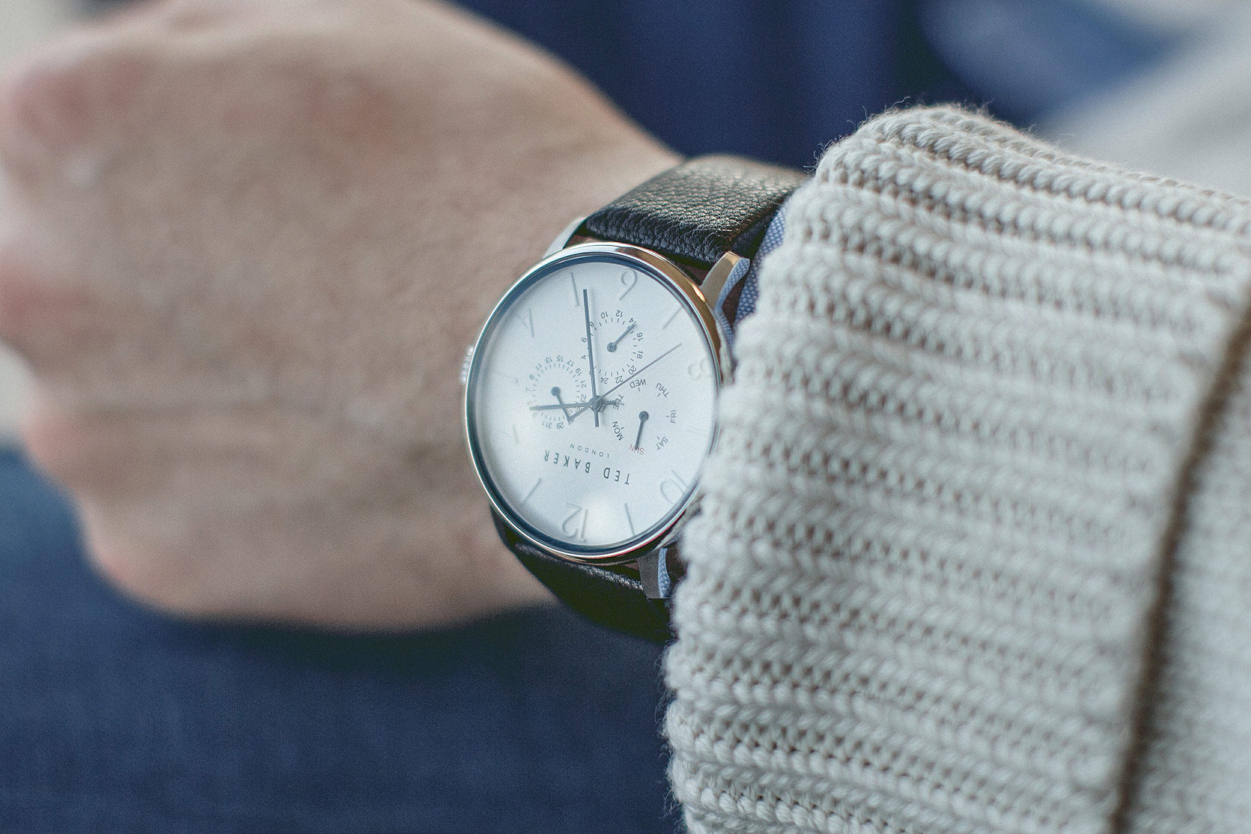 man's stylish watch