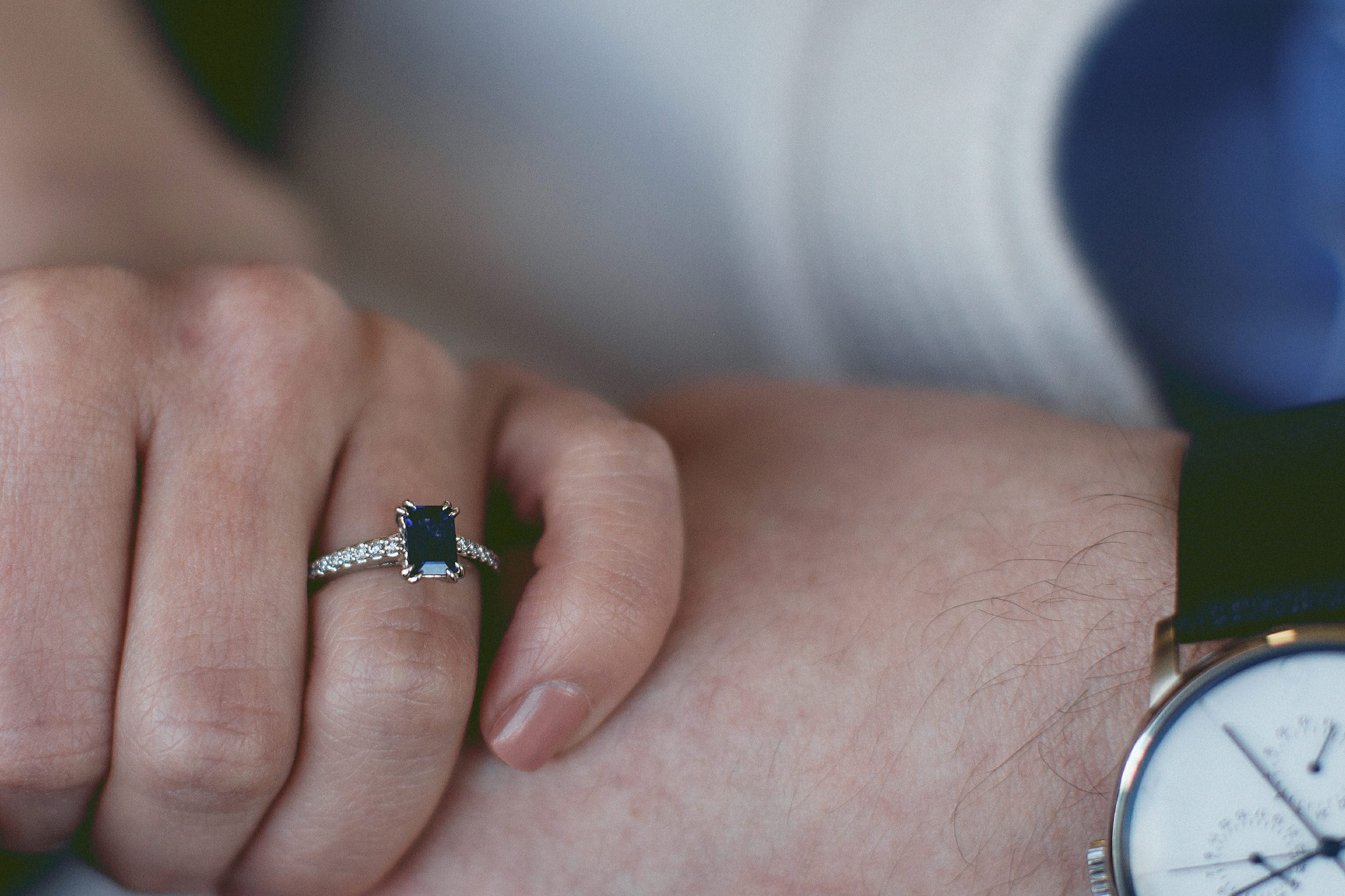 close up of the engagement ring
