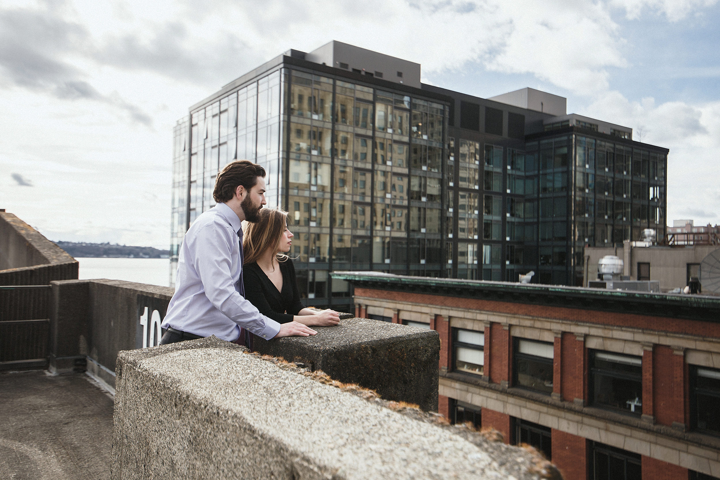 urban seattle engagement photo session