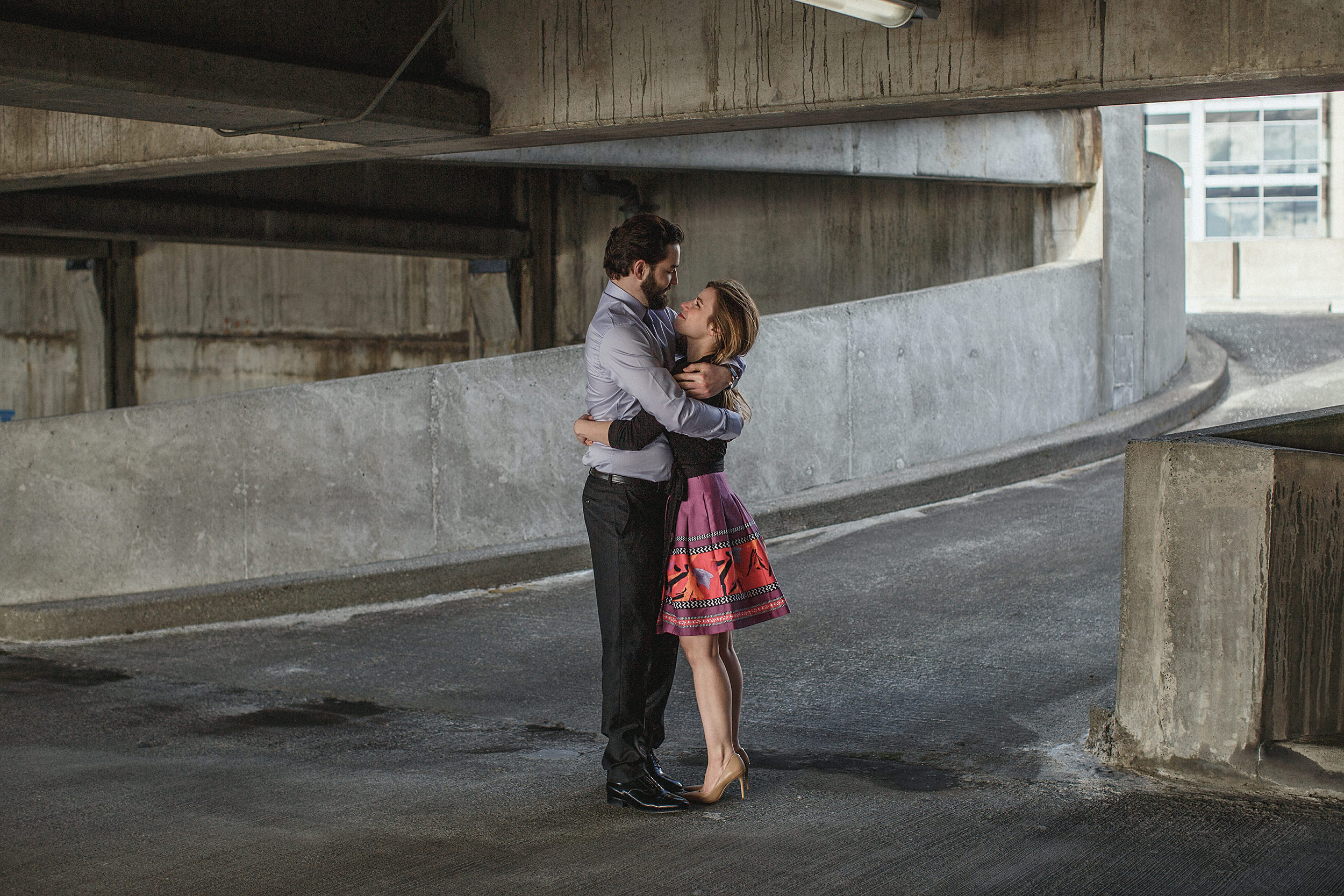 downtown seattle engagement photo session