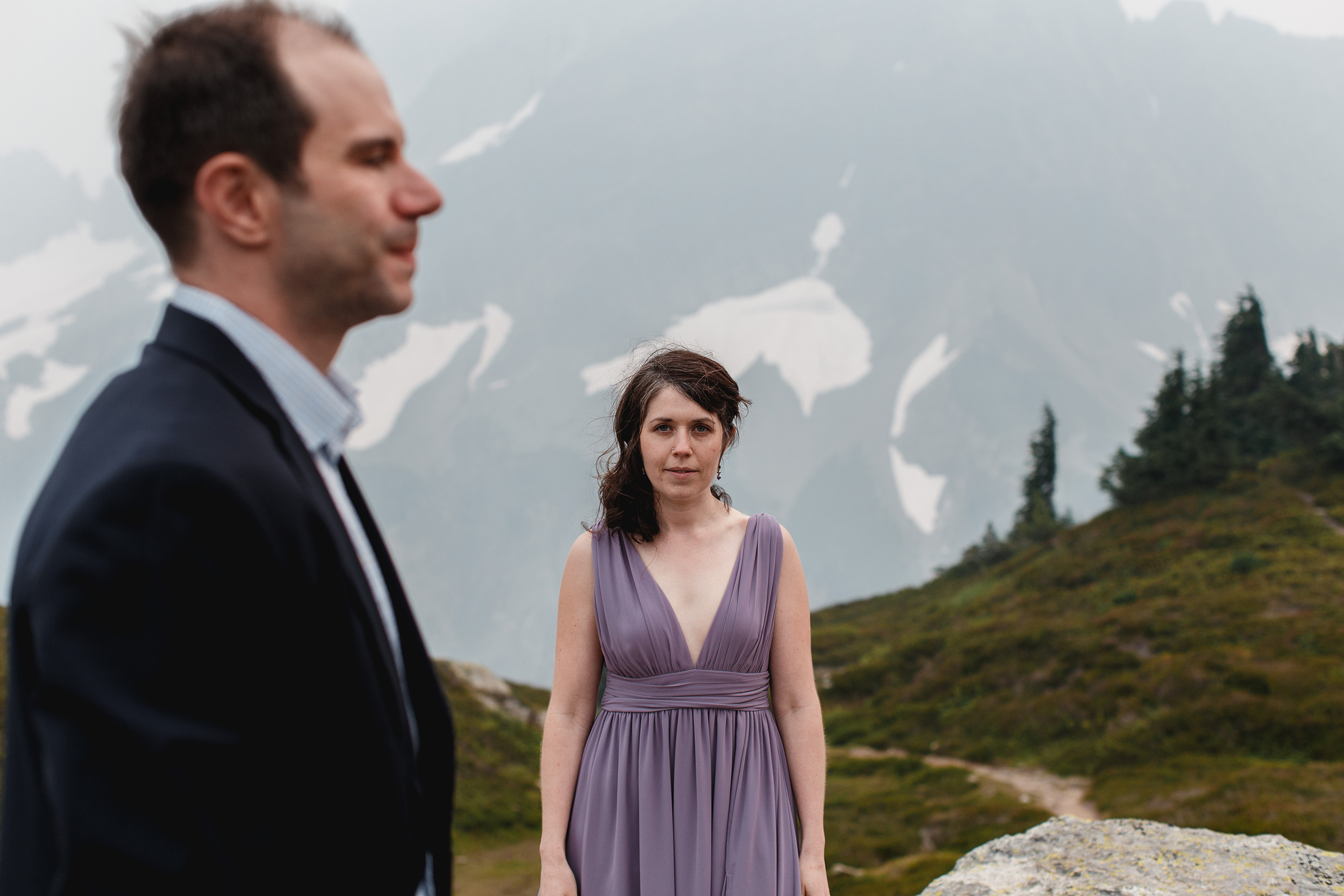 north cascades national park hiking engagement photo session