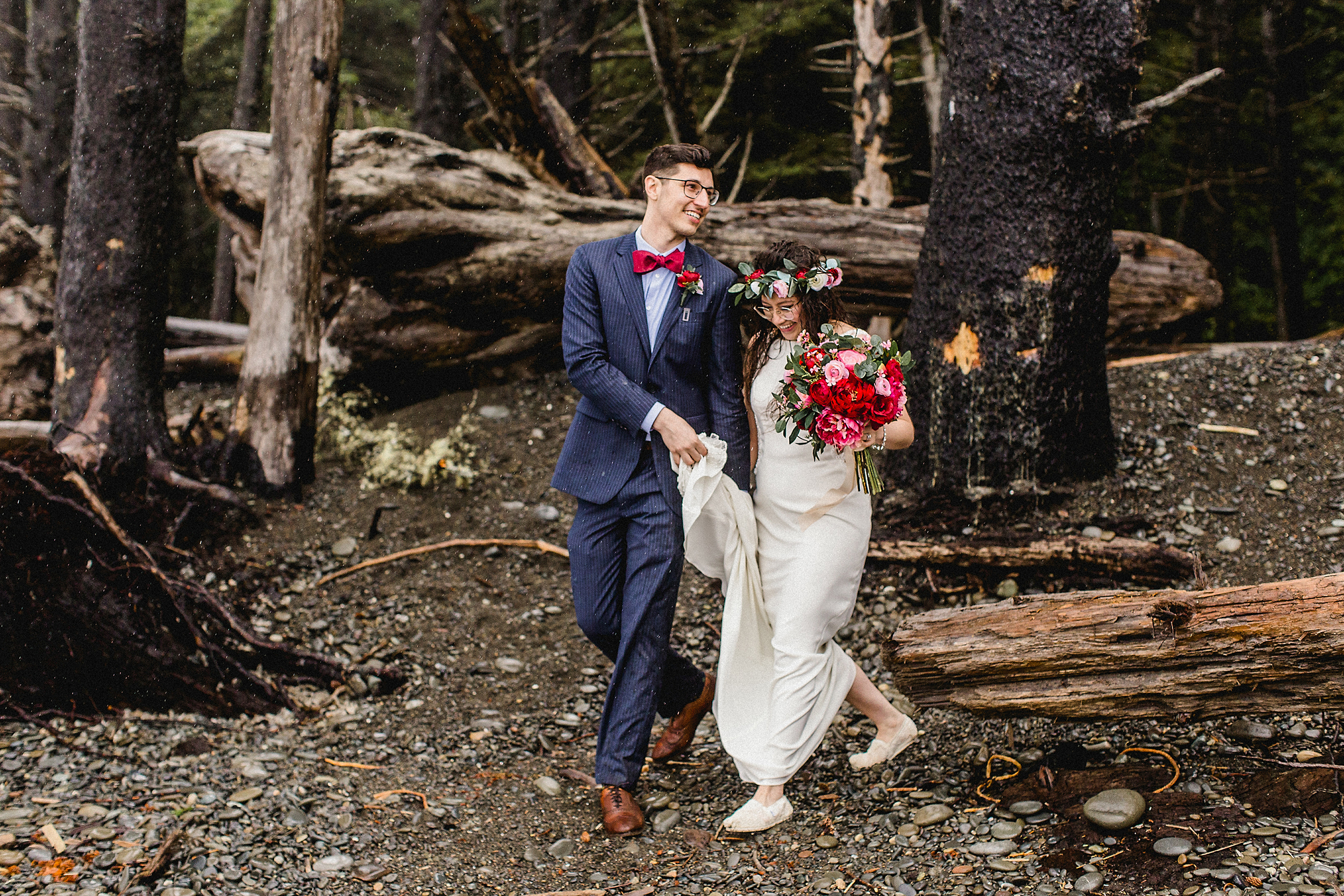 Just Married at Rialto Beach