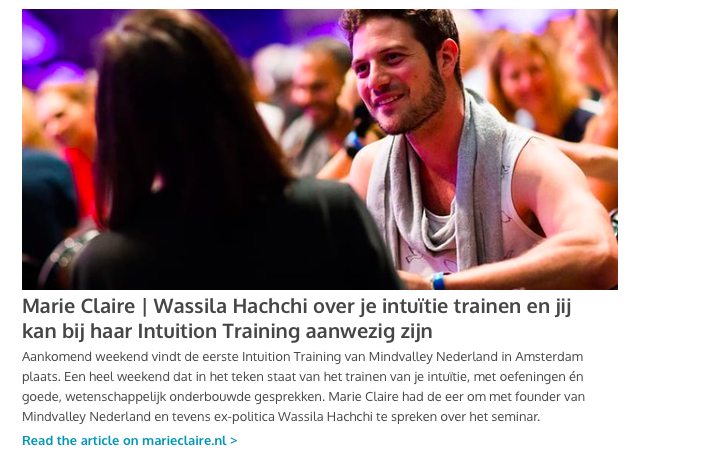 Interview Marie Claire Wassila Hachchi 4 april 2019