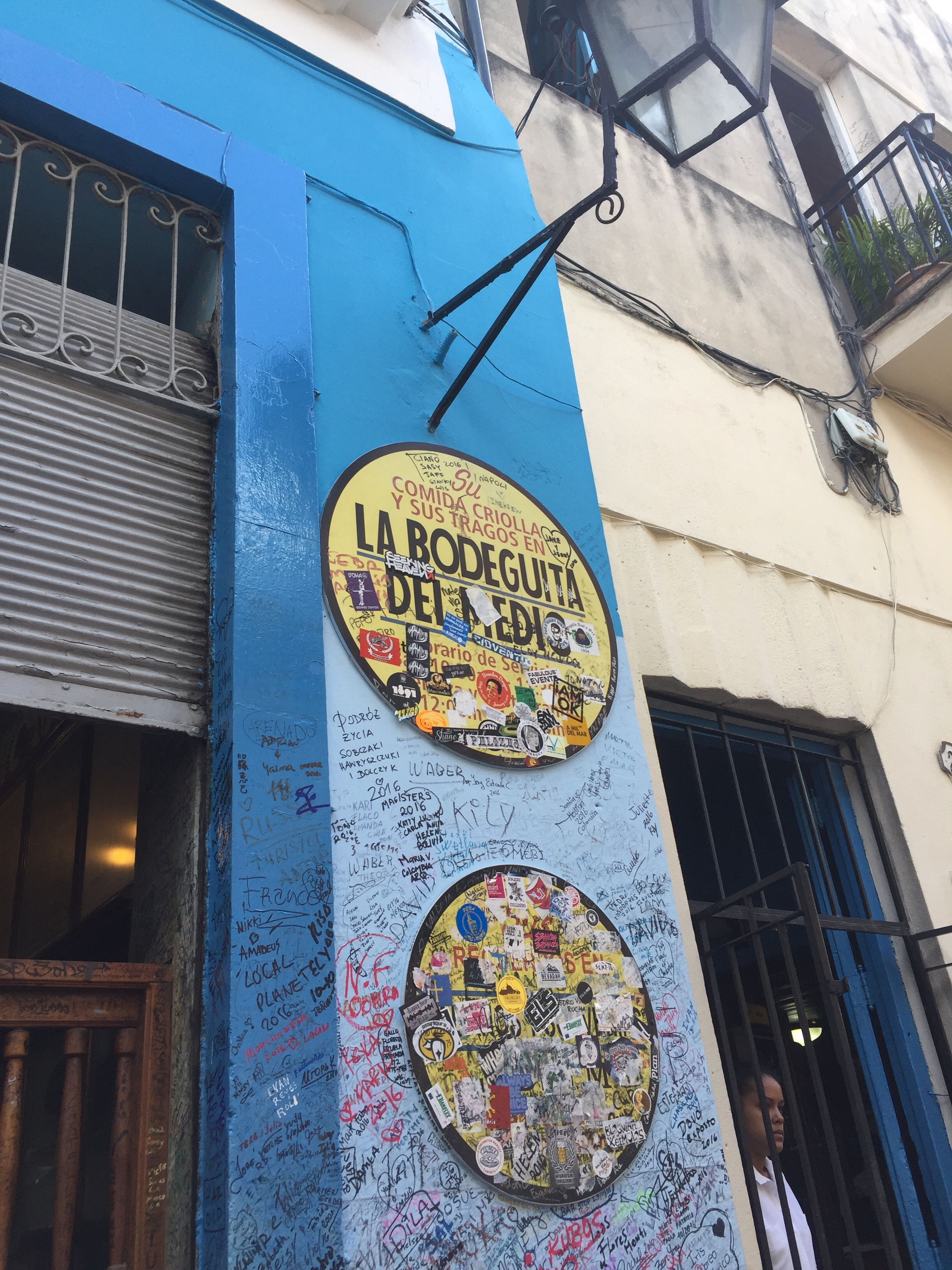 "At the La Bodeguita del Medio: A sign over the tourist-choked (and -autographed) bar, in Habana Vieja, features an alleged quote from Ernest Hemingway: ""My mojito in the Bodeguita del Medio and my daiquiri in the Floridita."" No idea if it's true, but, to be safe, I had a drink in both."