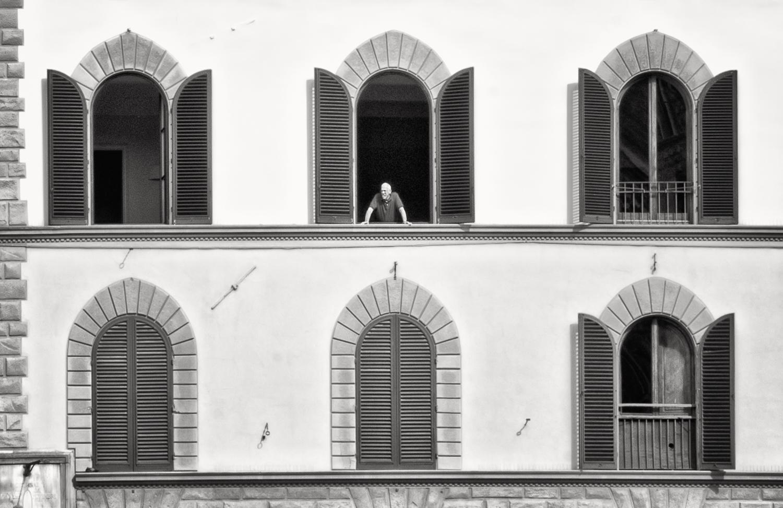 Man In Window, Piazza della Signoria, Florence, 2015