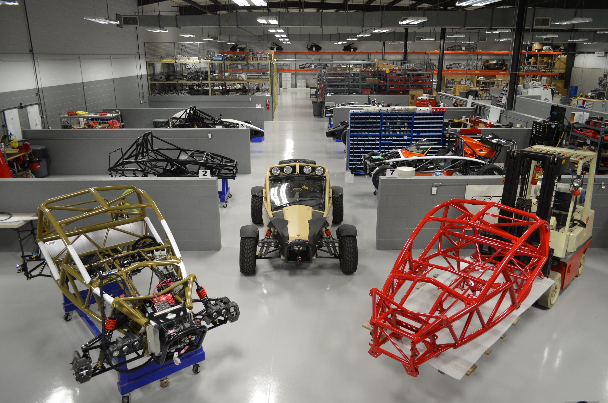 Ariel Nomad Production Area
