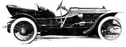 1910 - Ariel Hillclimber  Simplex 3,000cc engine, 60hp, 4 seater, aluminium body