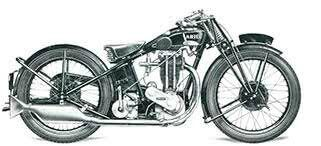 1928 - Ariel Model E Super Sports  500cc Twin port engine, 3 speed gearbox, Hand gearchange