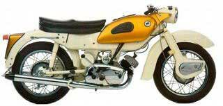 1963 - Ariel Arrow  250cc, 20 bhp 2 stroke twin cylinder engine, Pressed steel frame, Trailing link front forks