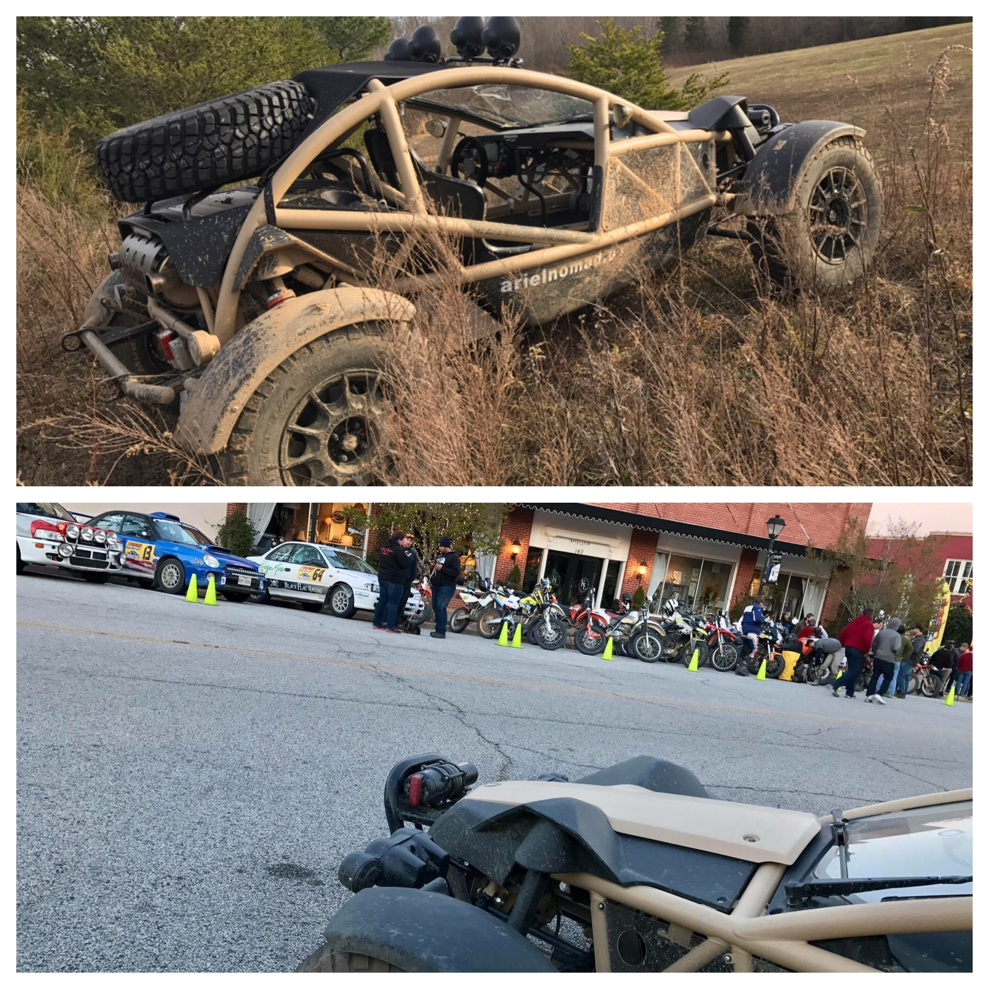 March, 2017 - Attending the Sand Blast Rally with the Ariel Nomad