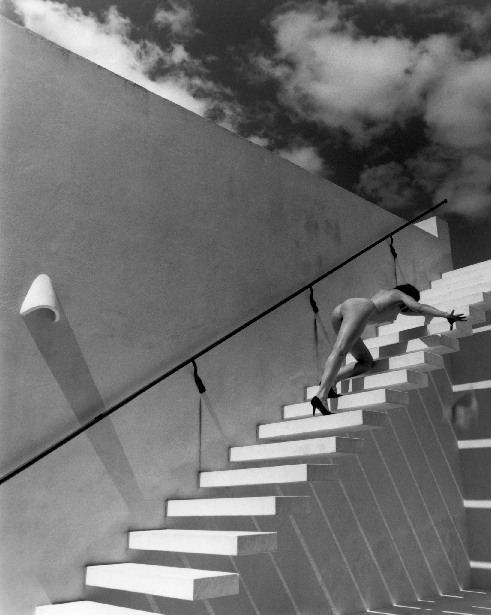 kim-weston-nude-on-white-stairs-2014.jpg
