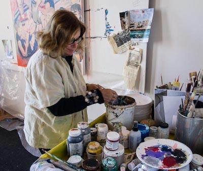 Bonnie Heller painting
