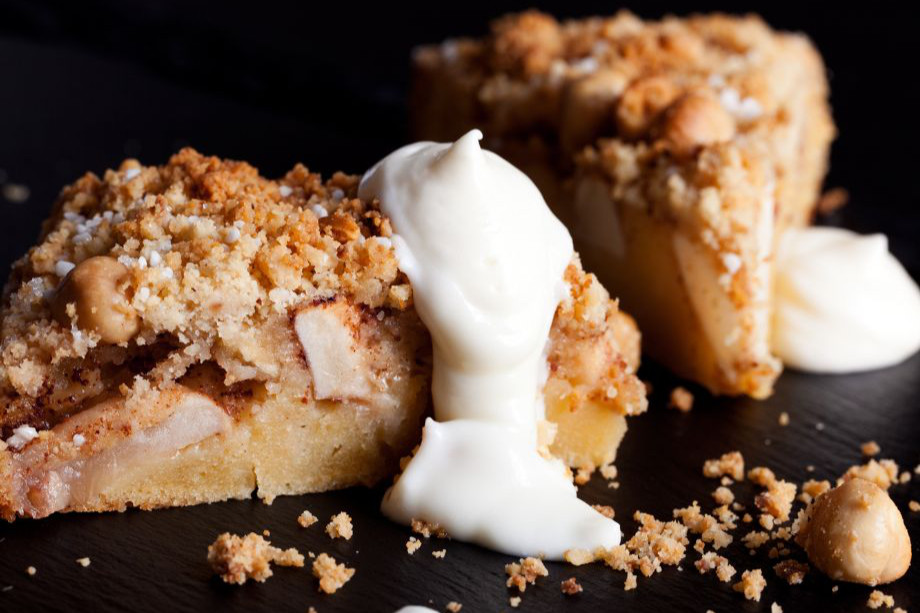 Apple cake with fromage frais. A new fresh touch to apple cake.